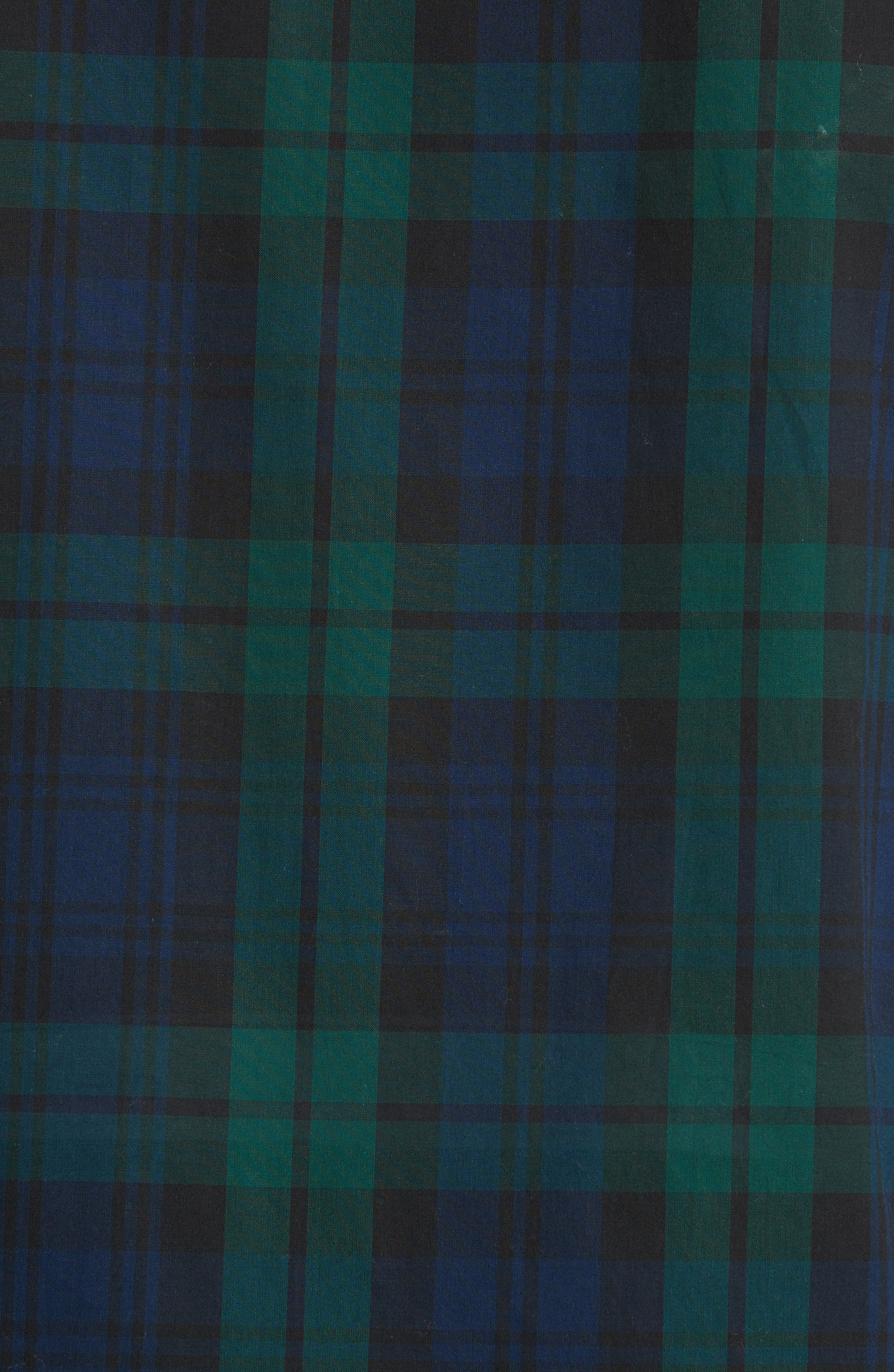 Salwick Tartan Plaid Sport Shirt,                             Alternate thumbnail 5, color,                             Navy