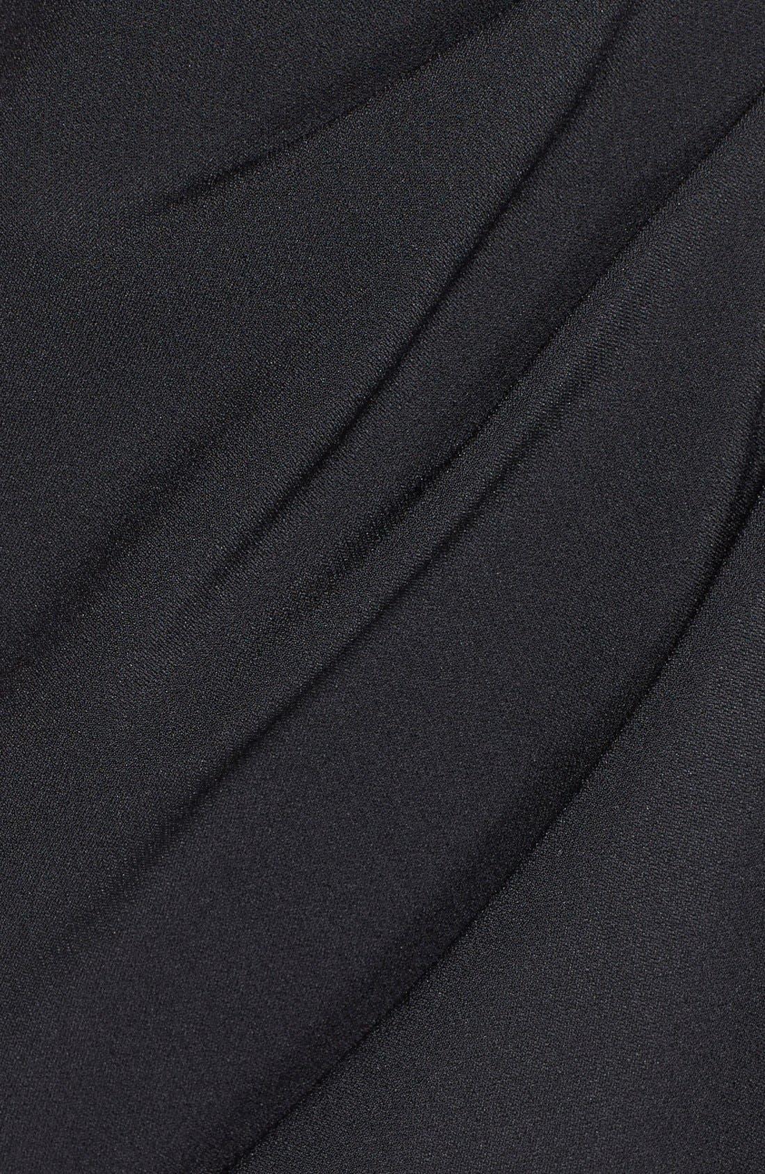 Alternate Image 4  - Adrianna Papell Pleated Crepe Sheath Dress