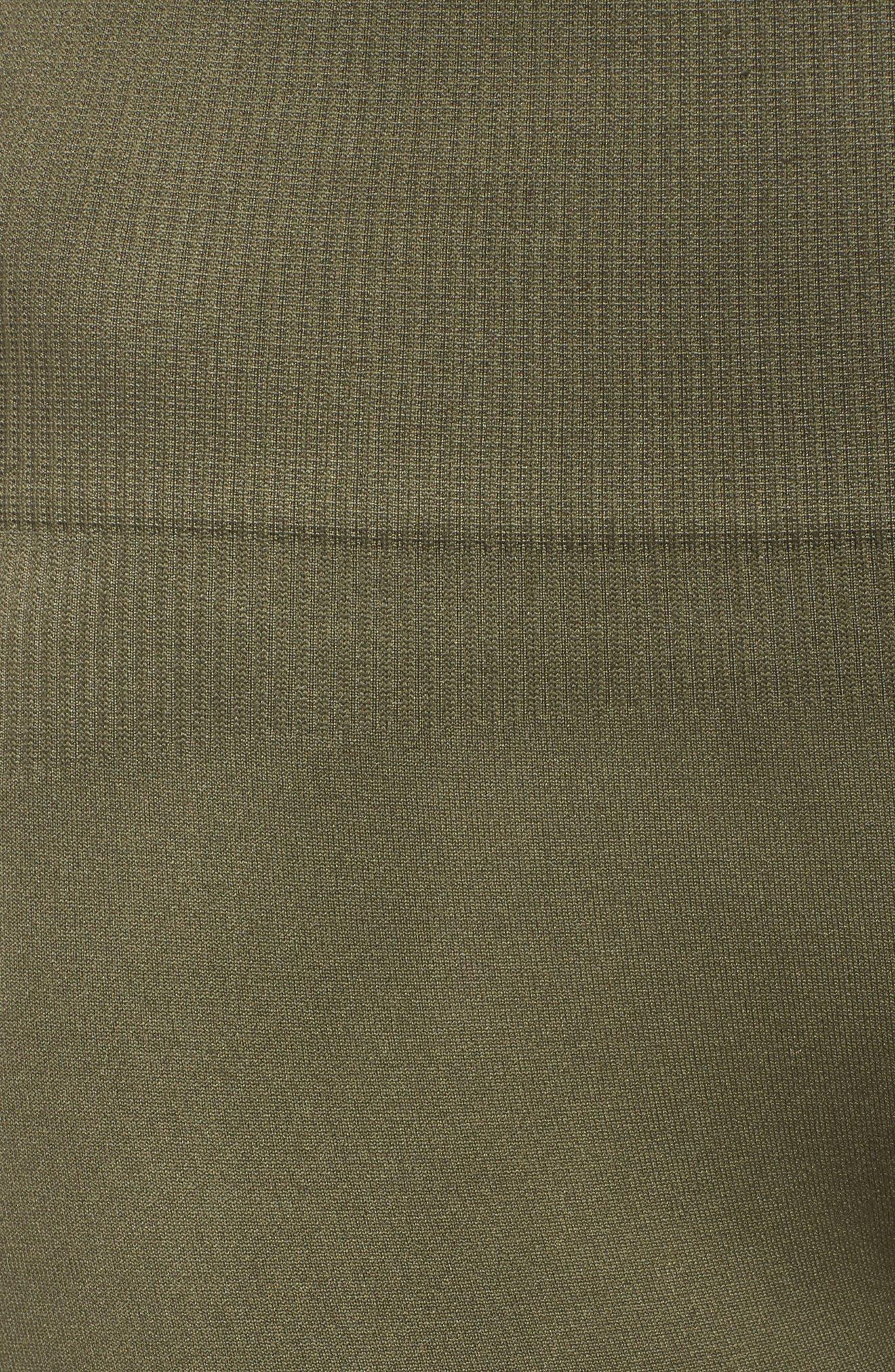 Formation High Waist Leggings,                             Alternate thumbnail 6, color,                             Tapioca W/ Deep Lichen Green