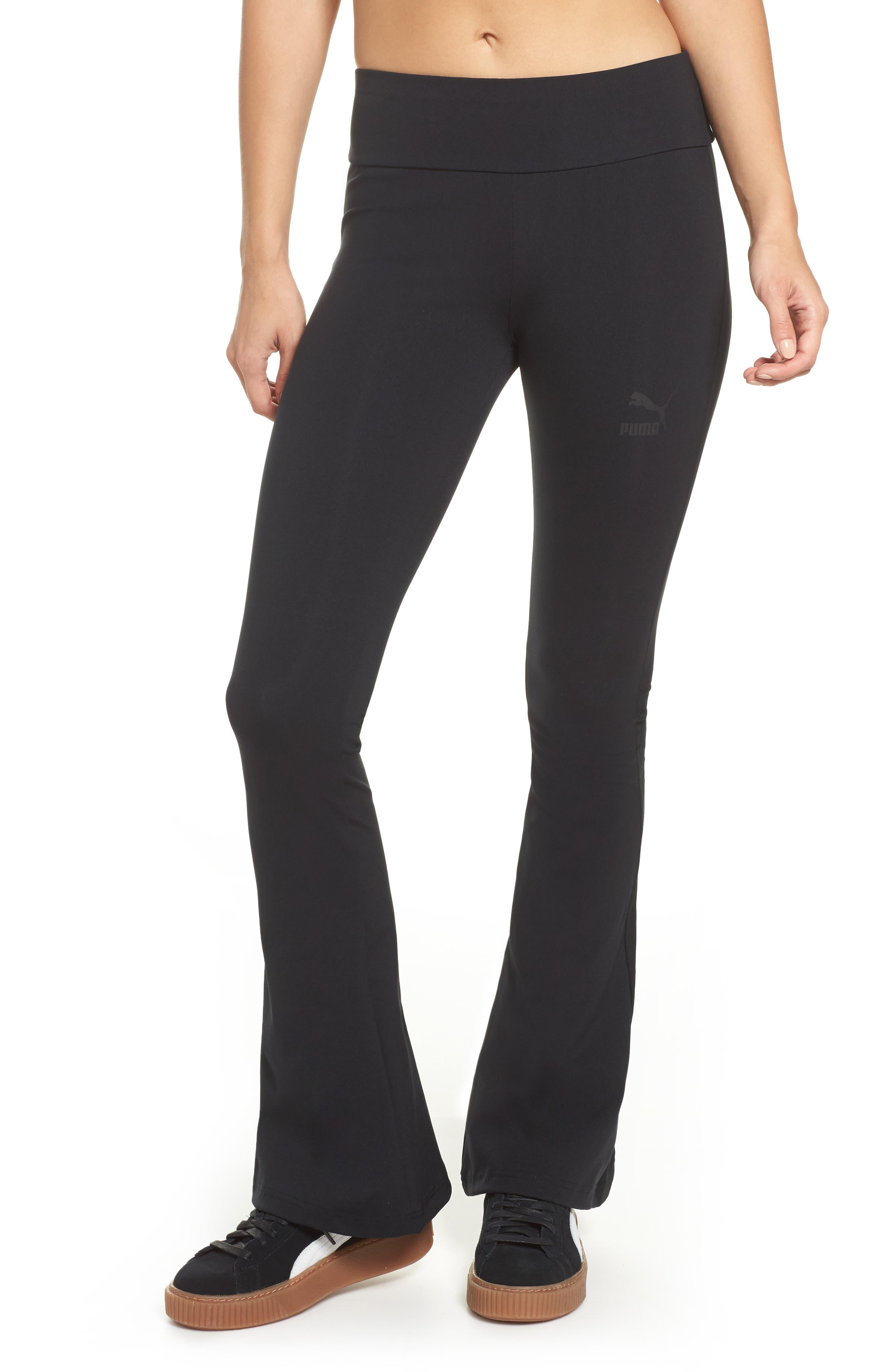 Flare Leggings,                         Main,                         color, Cotton Black