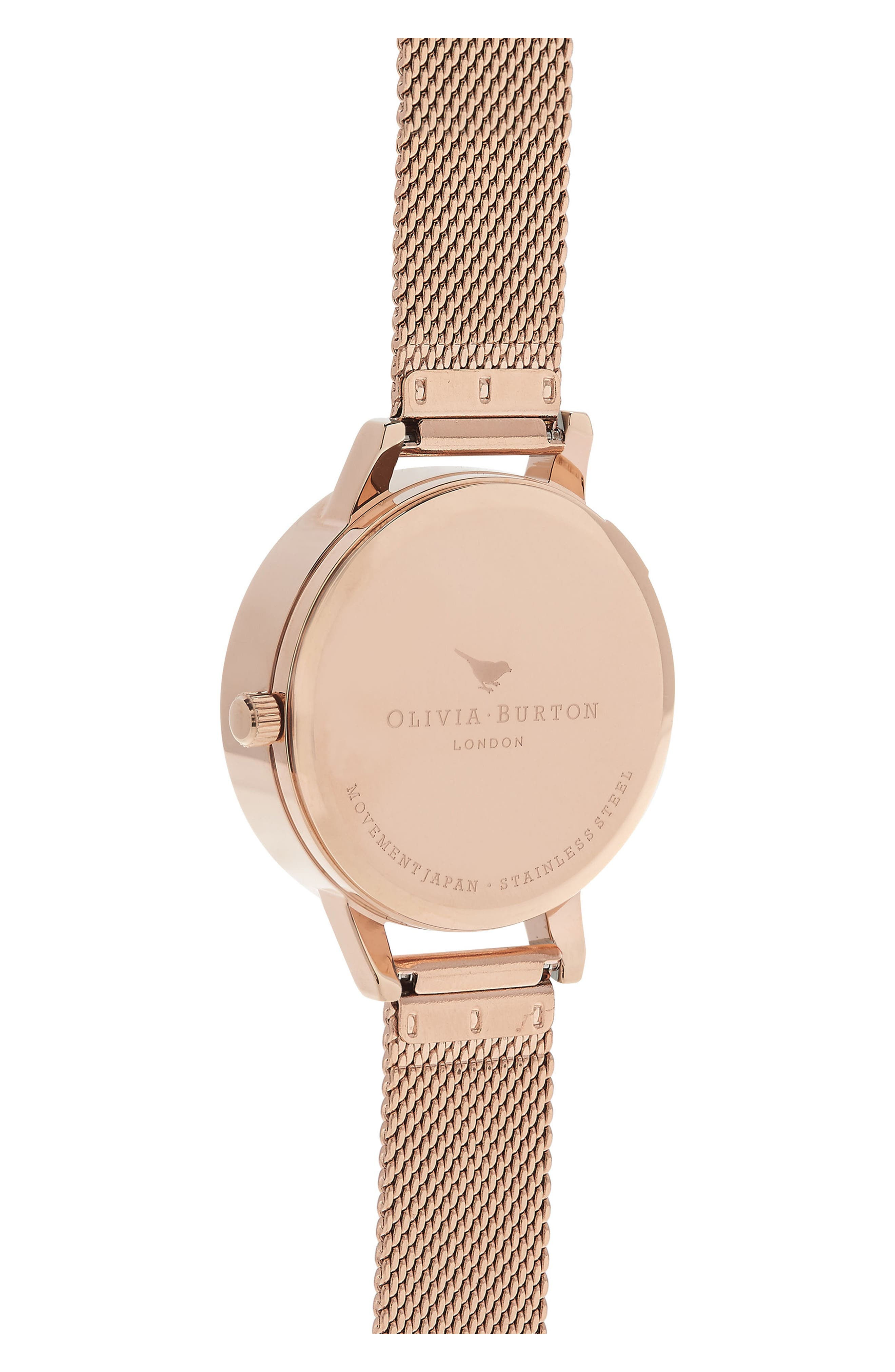 Busy Bees Mesh Strap Watch, 30mm,                             Alternate thumbnail 2, color,                             Rose Gold/ White/ Rose Gold