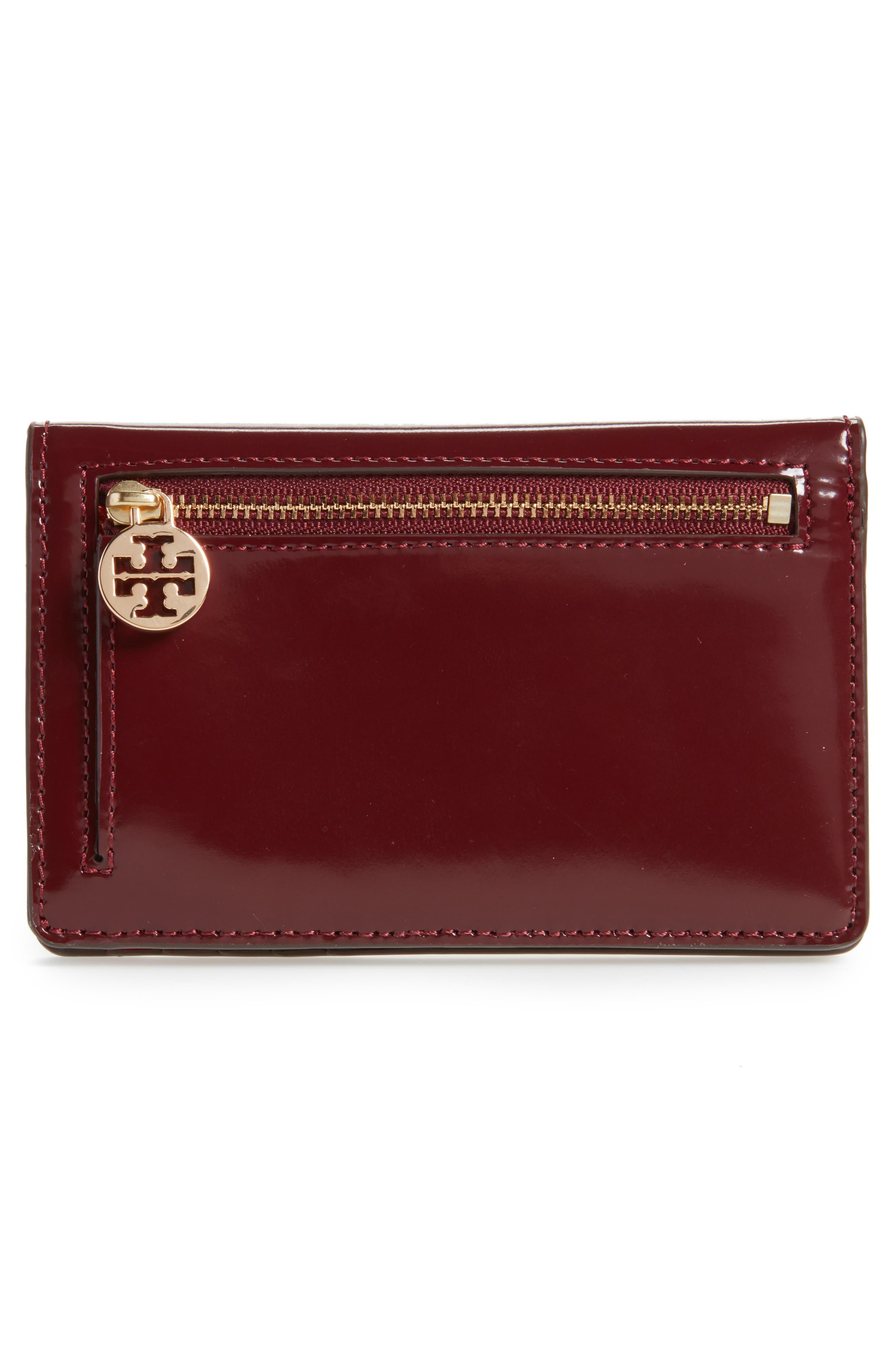 Alternate Image 4  - Tory Burch Medium McGraw Dachshund Slim Leather Wallet