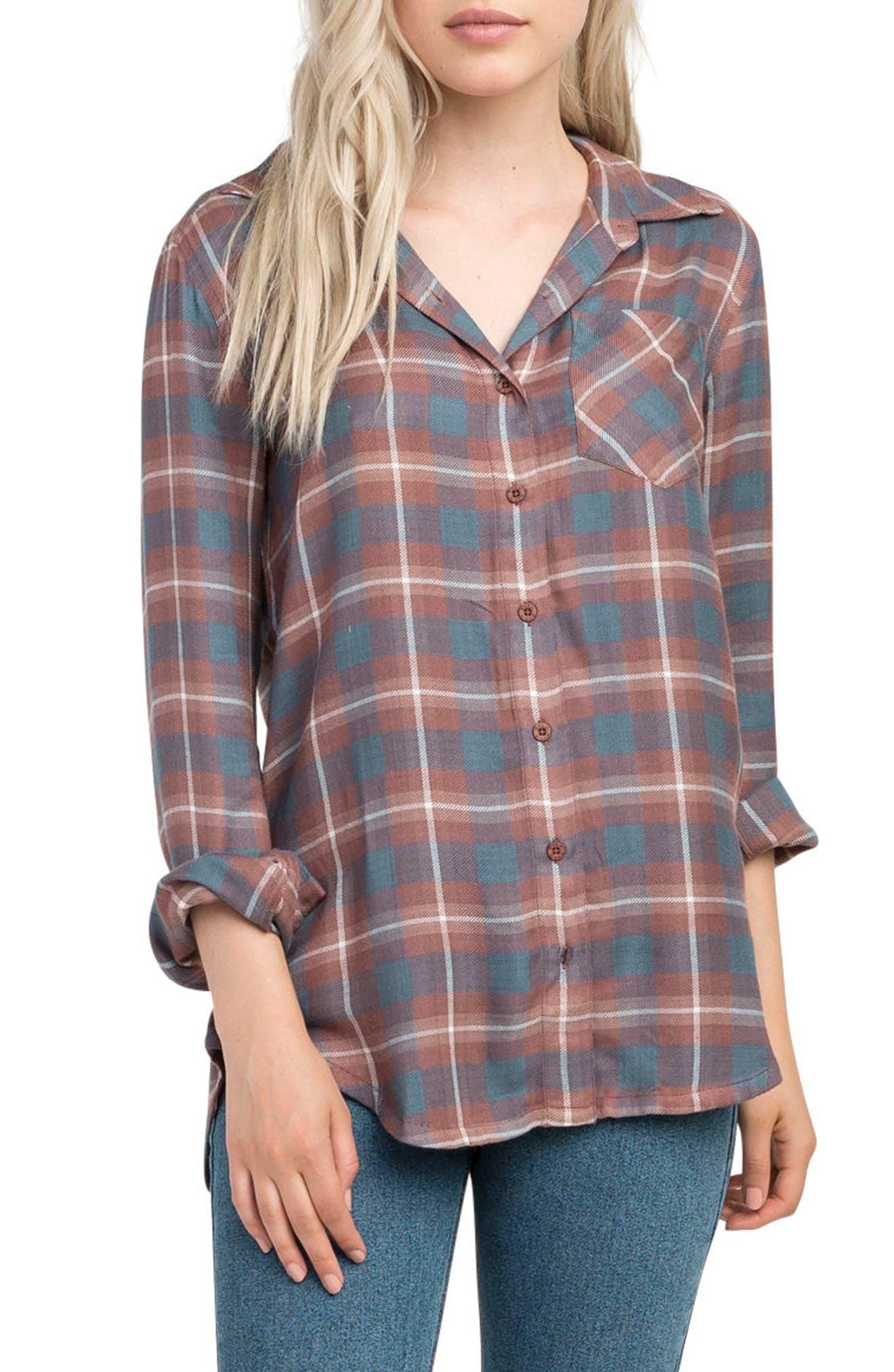 Alternate Image 1 Selected - RVCA York Plaid Shirt