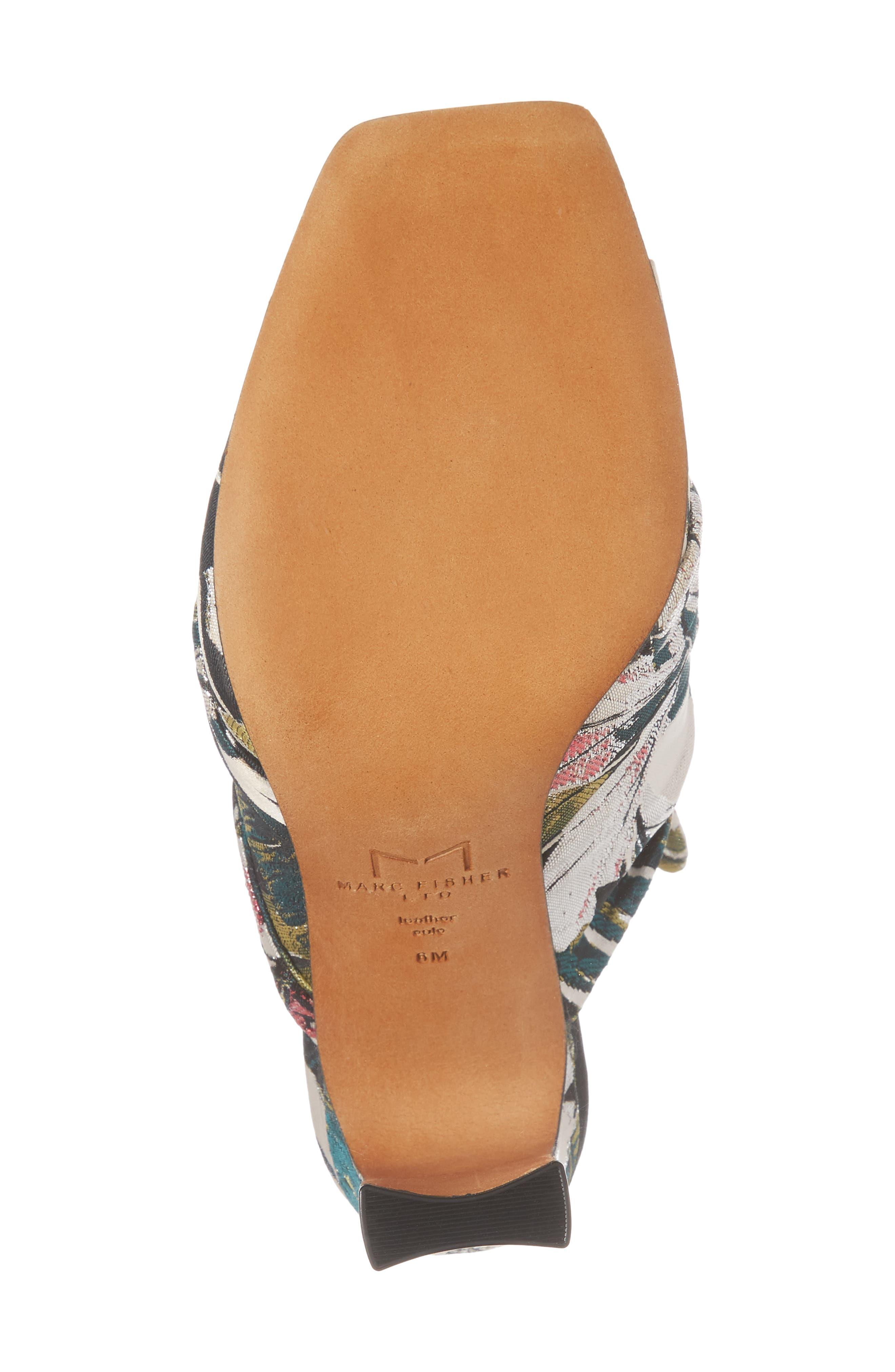 Hogan Slide Sandal,                             Alternate thumbnail 6, color,                             White Leather