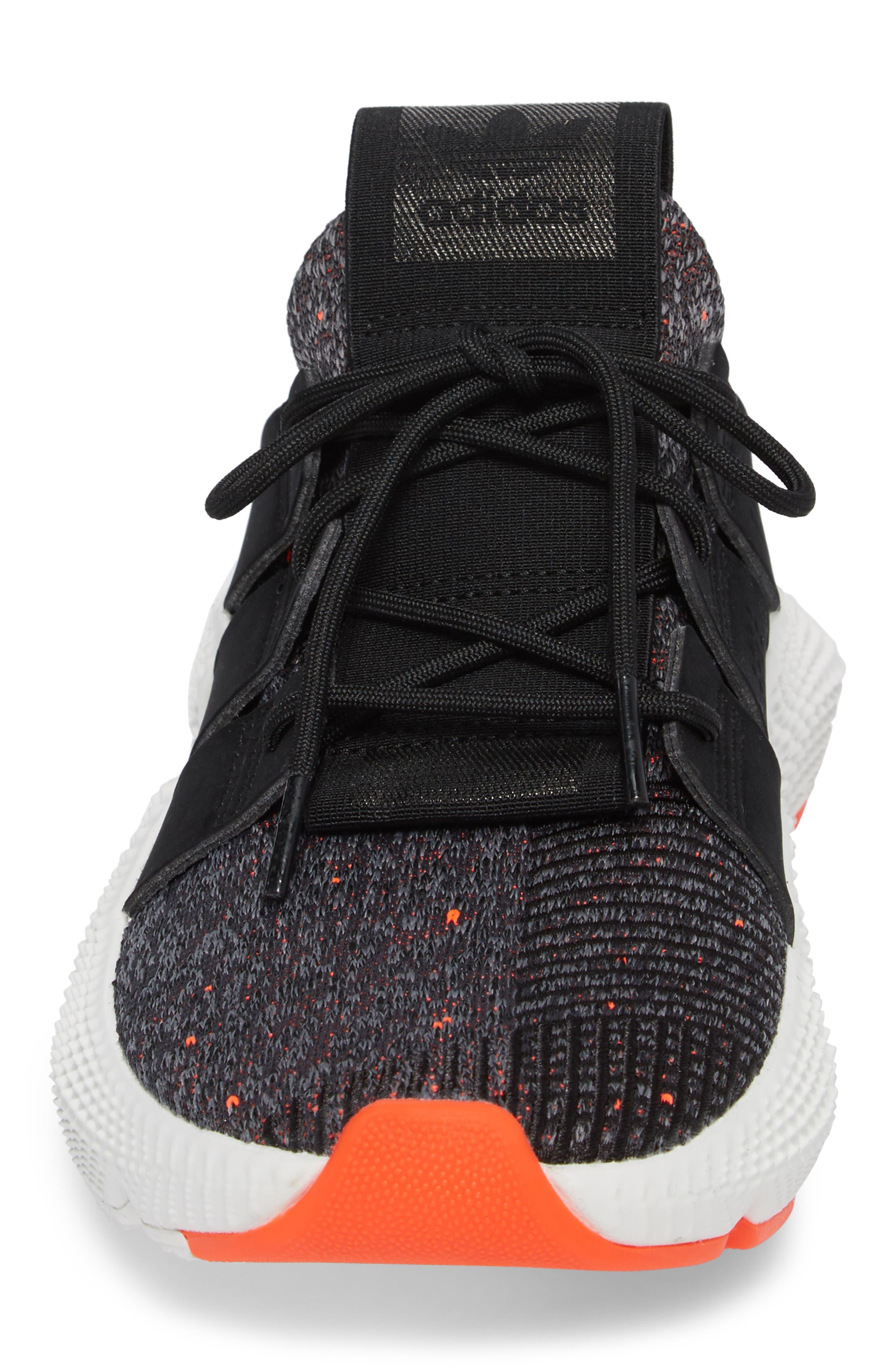 Prophere Sneaker,                             Alternate thumbnail 4, color,                             Black/ Solar Red