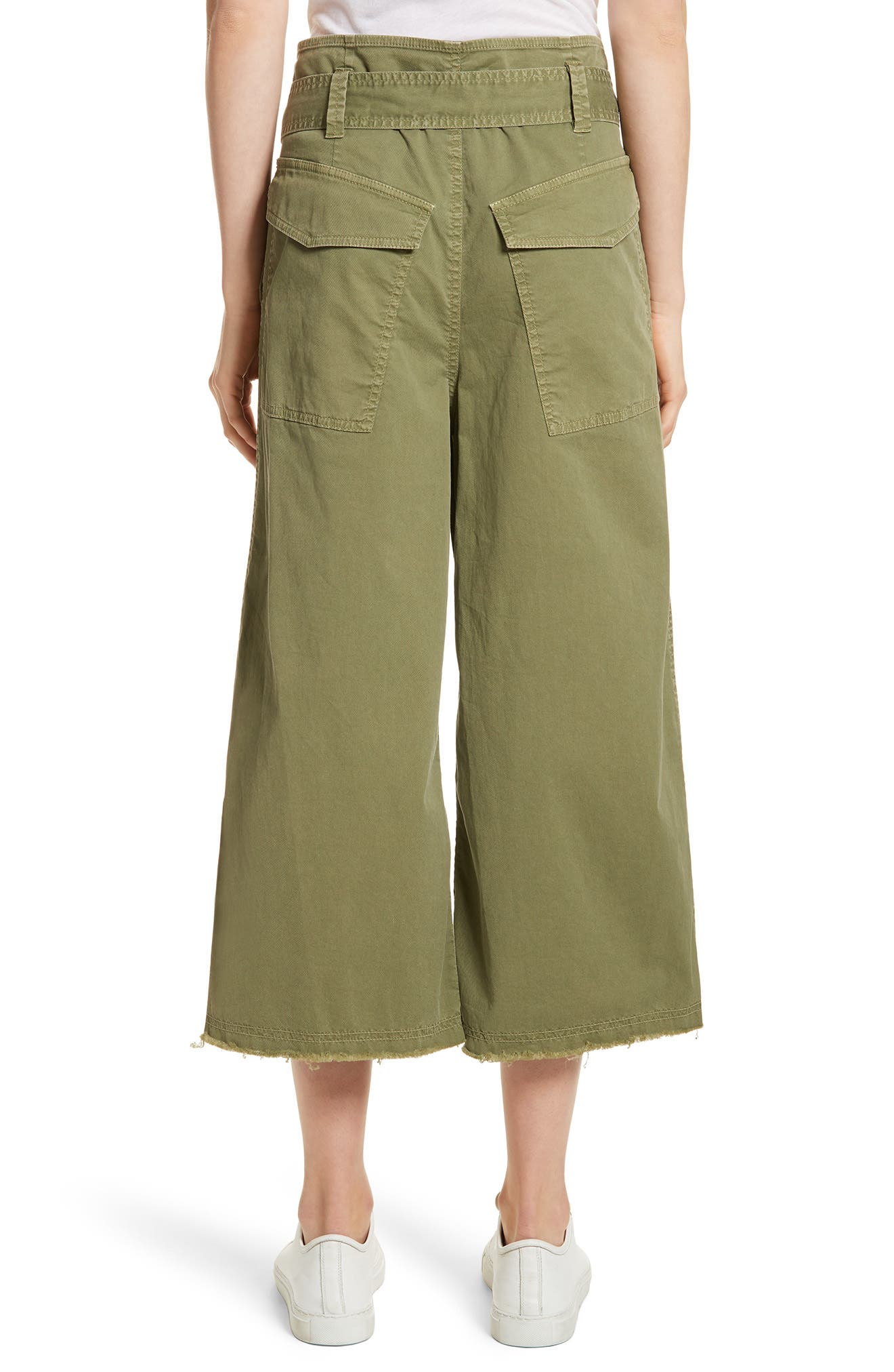 Ellie Drop Rise Culottes,                             Alternate thumbnail 2, color,                             Army Green