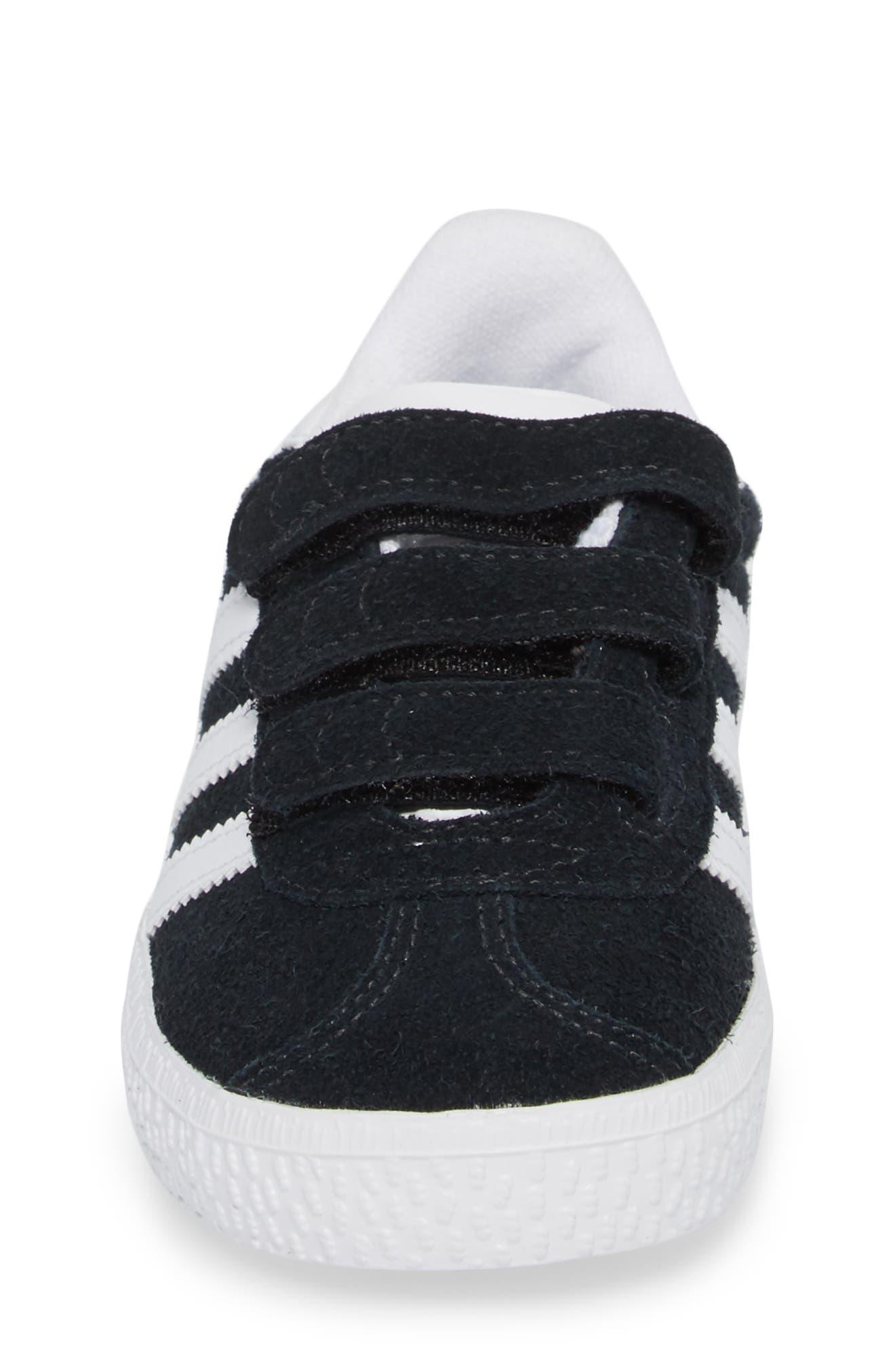Gazelle Sneaker,                             Alternate thumbnail 5, color,                             Core Black / White / White