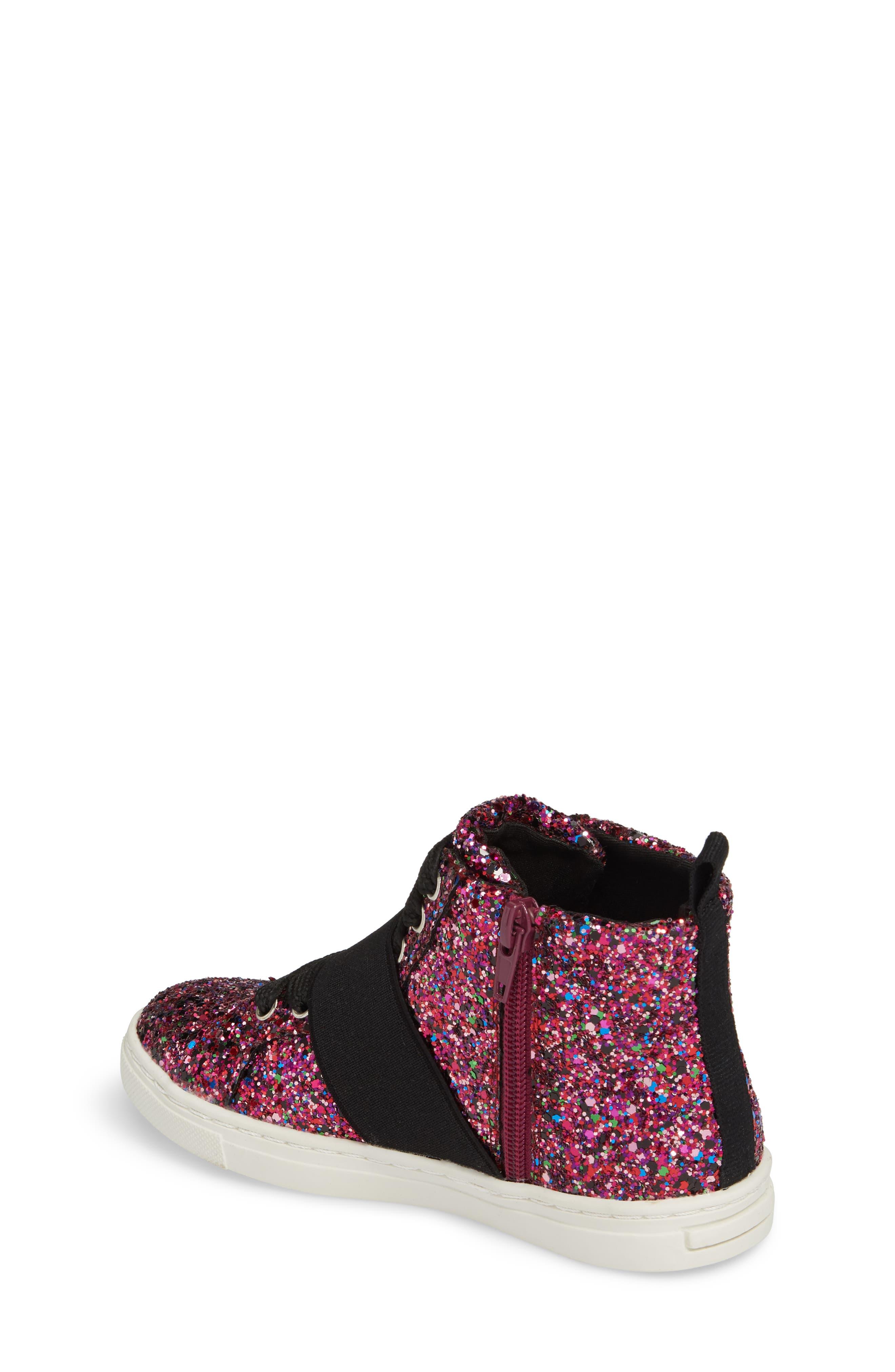 Zoa High Top Sneaker,                             Alternate thumbnail 2, color,                             Fuchsia Glitter