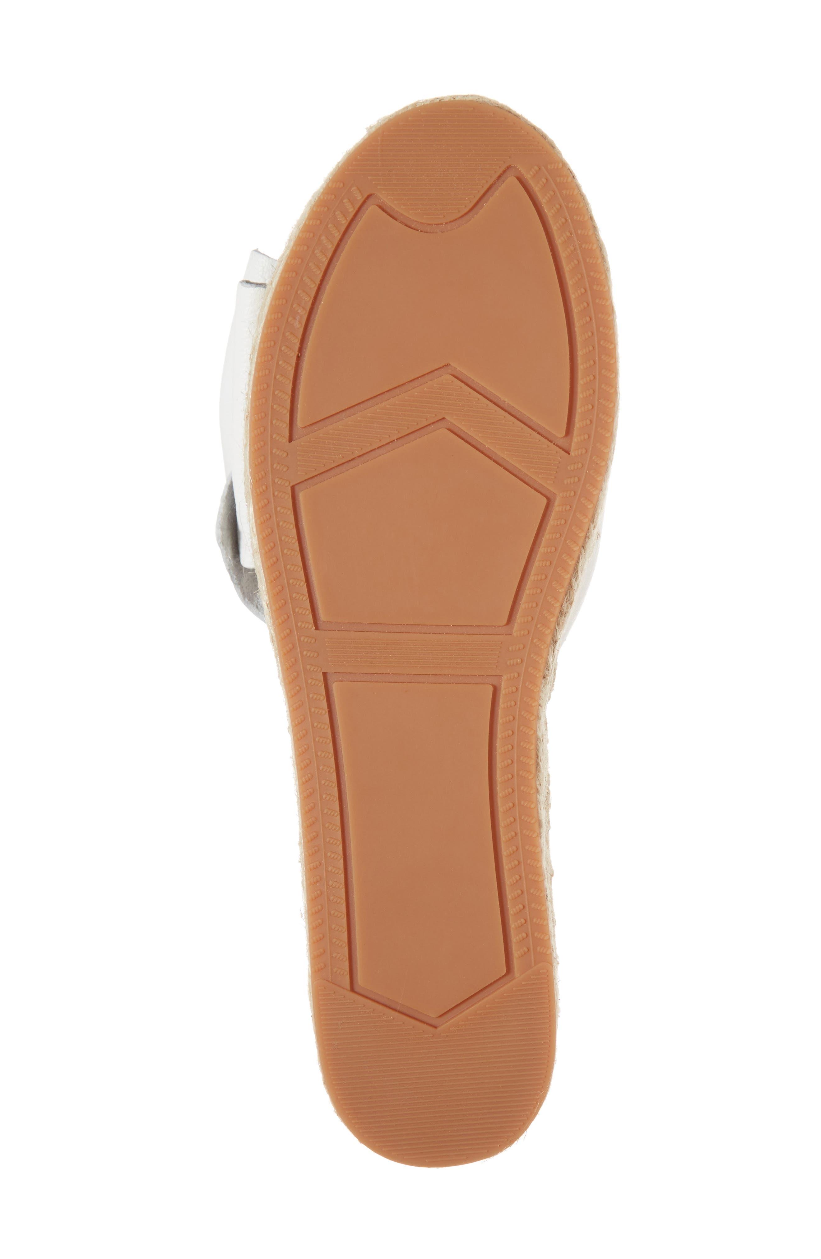 Giana Bow Slide Sandal,                             Alternate thumbnail 6, color,                             Optic White Leather