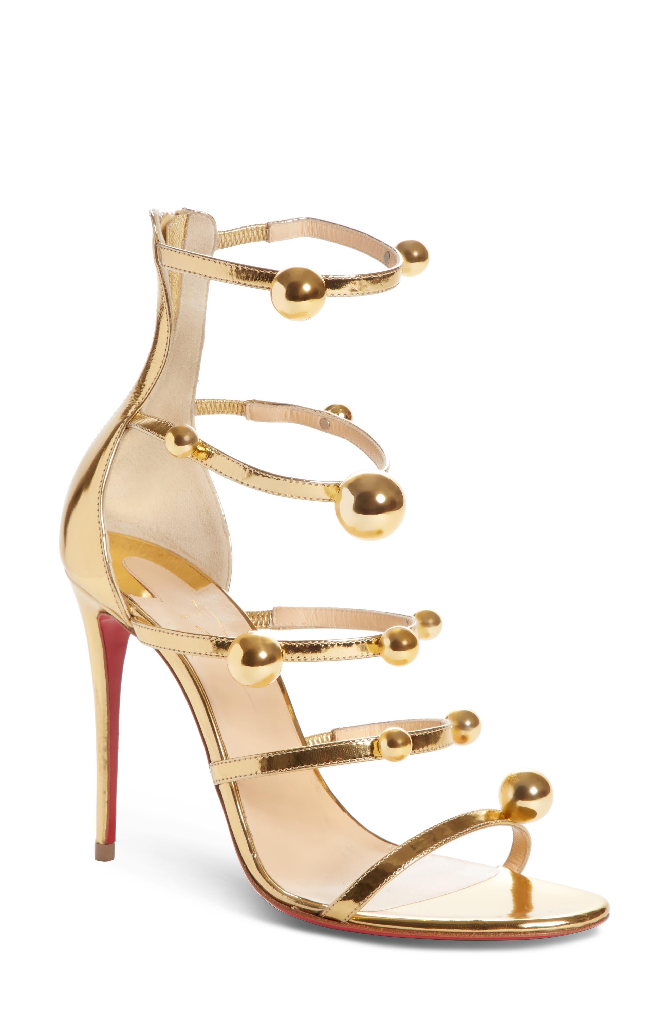Atonana Ornament Sandal,                         Main,                         color, Gold