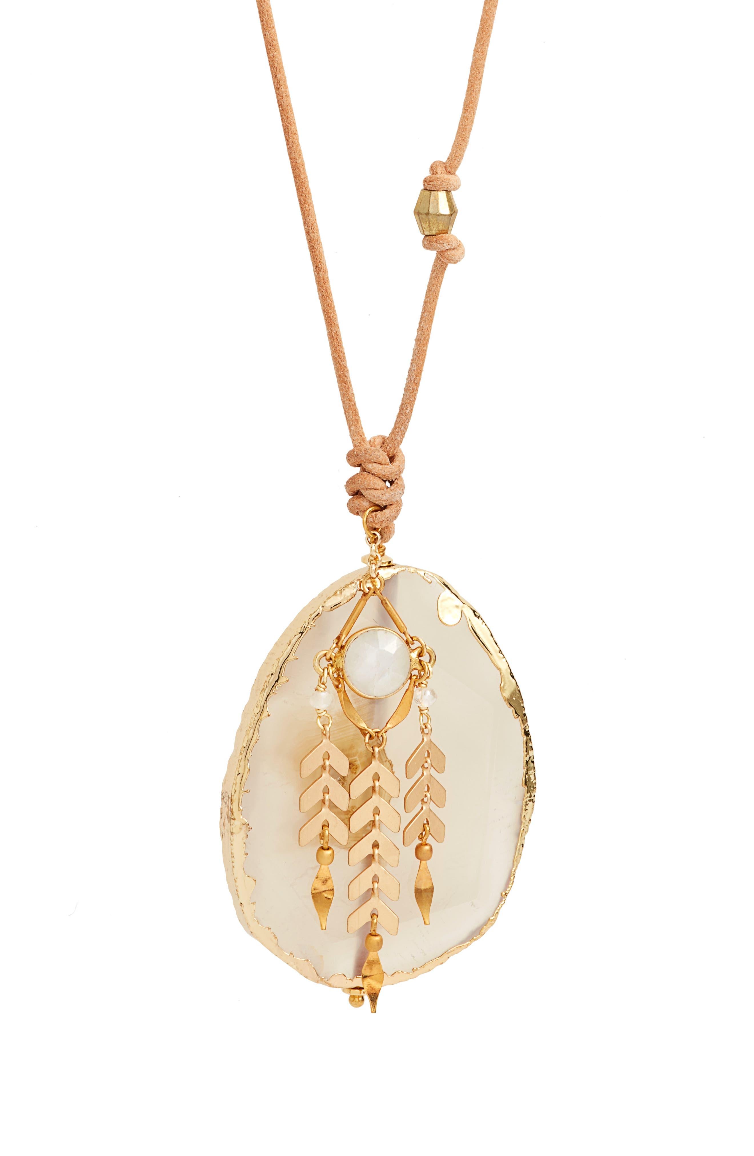 Alternate Image 2  - Chan Luu Dyed Stone Pendant Necklace