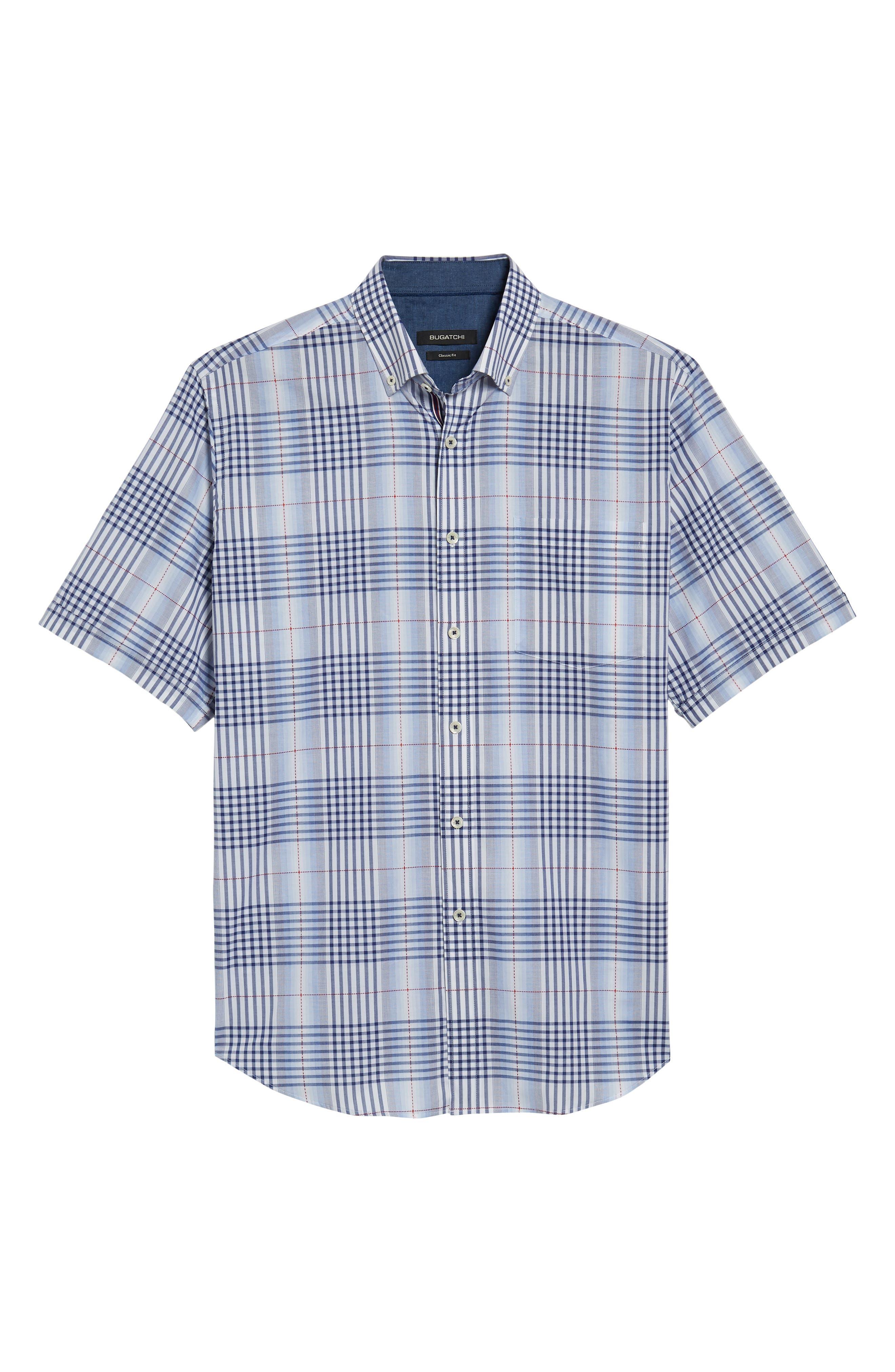 Alternate Image 6  - Bugatchi Classic Fit Plaid Sport Shirt