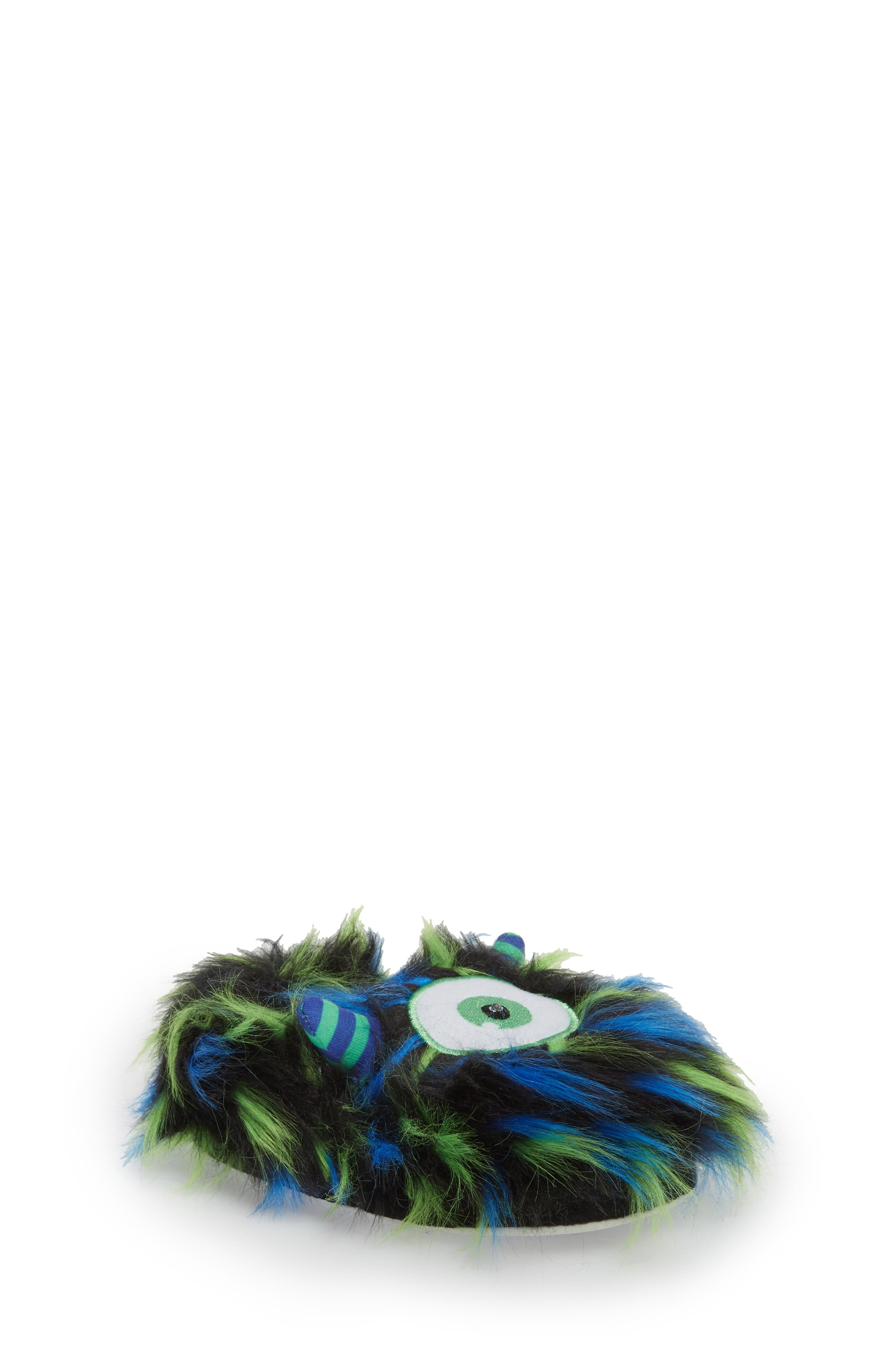 Cyclops Faux Fur Light-Up Eye Slipper,                         Main,                         color, Blue
