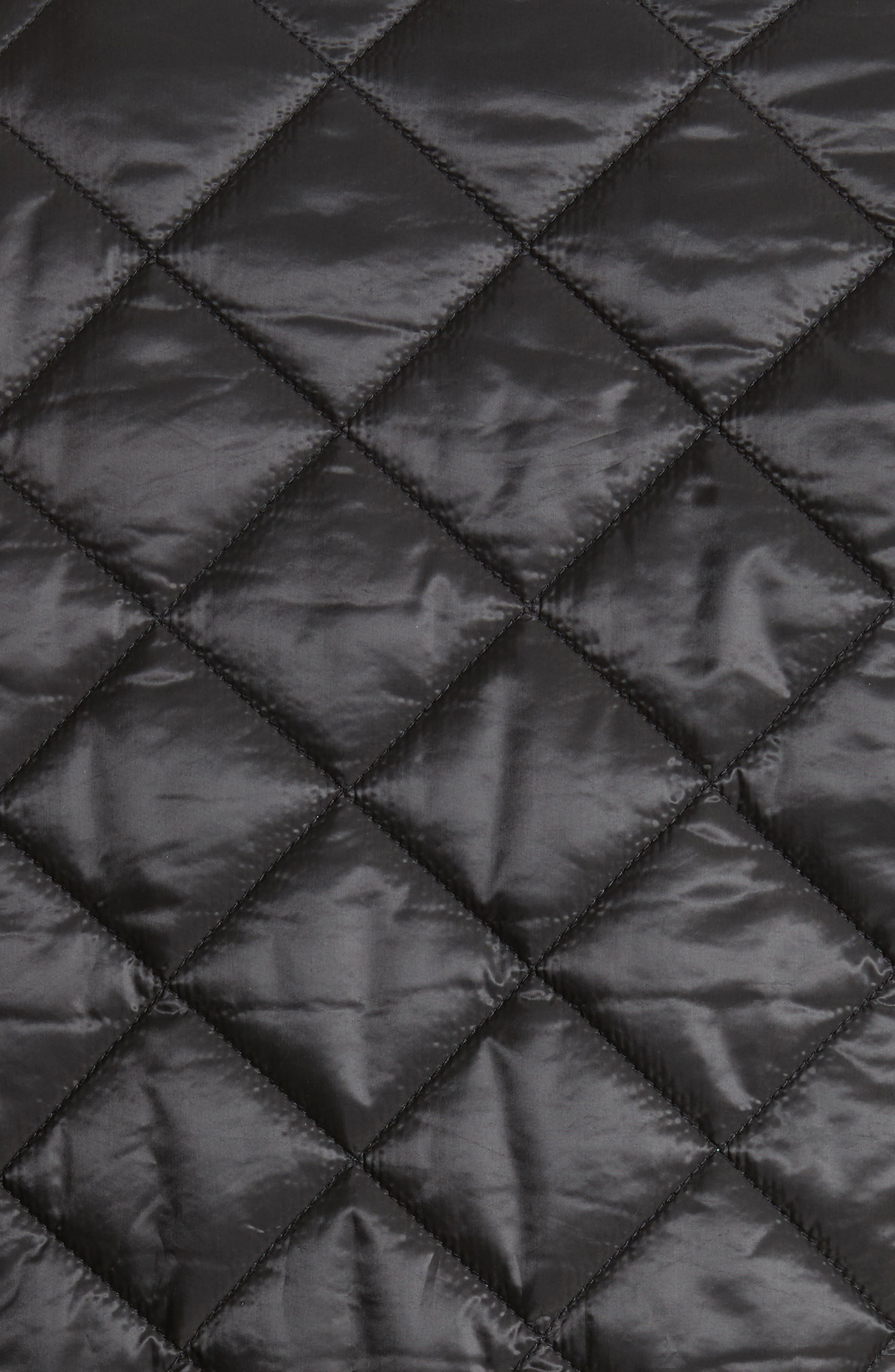 Quilted Jacket,                             Alternate thumbnail 5, color,                             Black