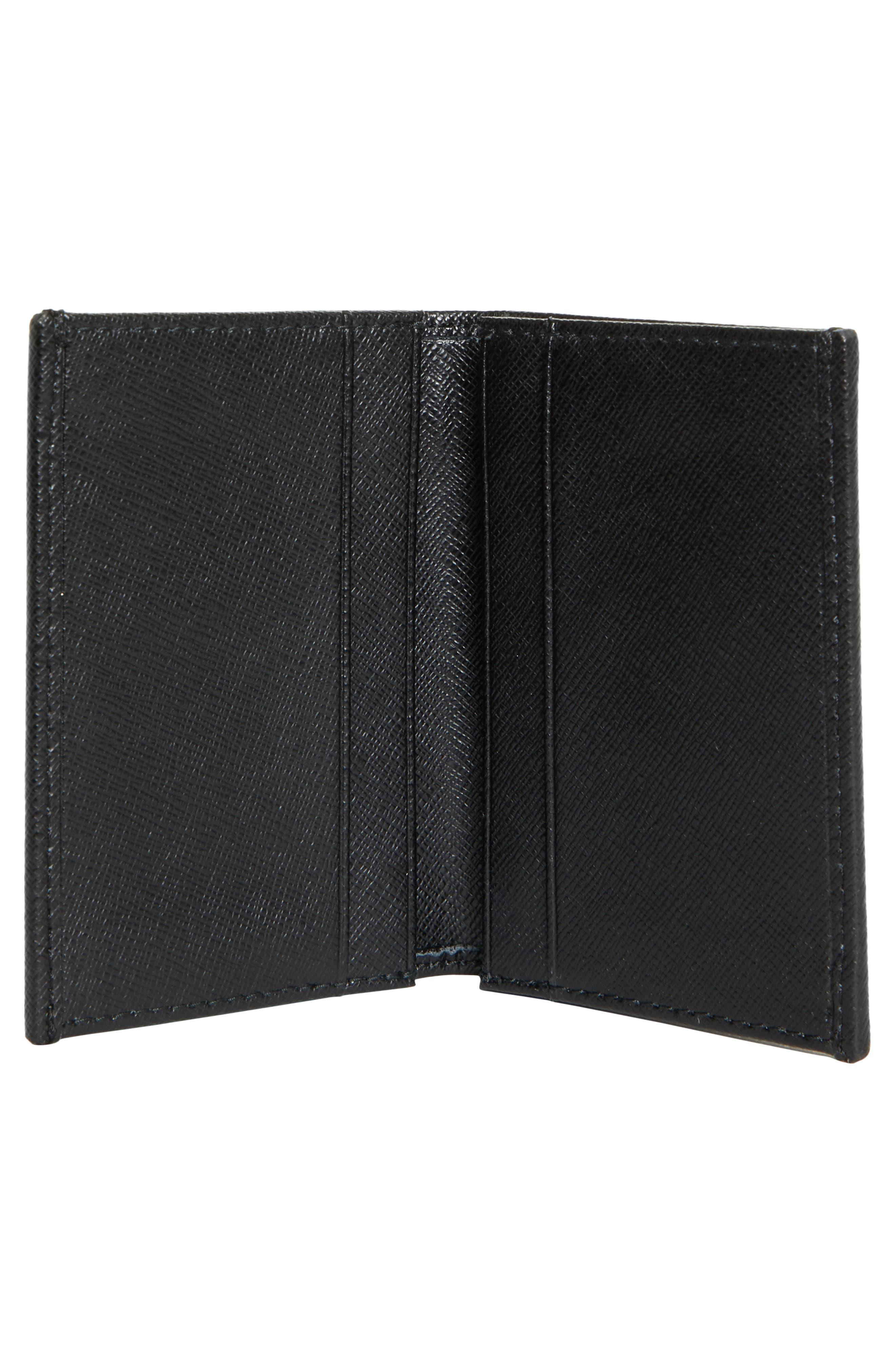 Small Flap Wallet,                             Alternate thumbnail 2, color,                             Black