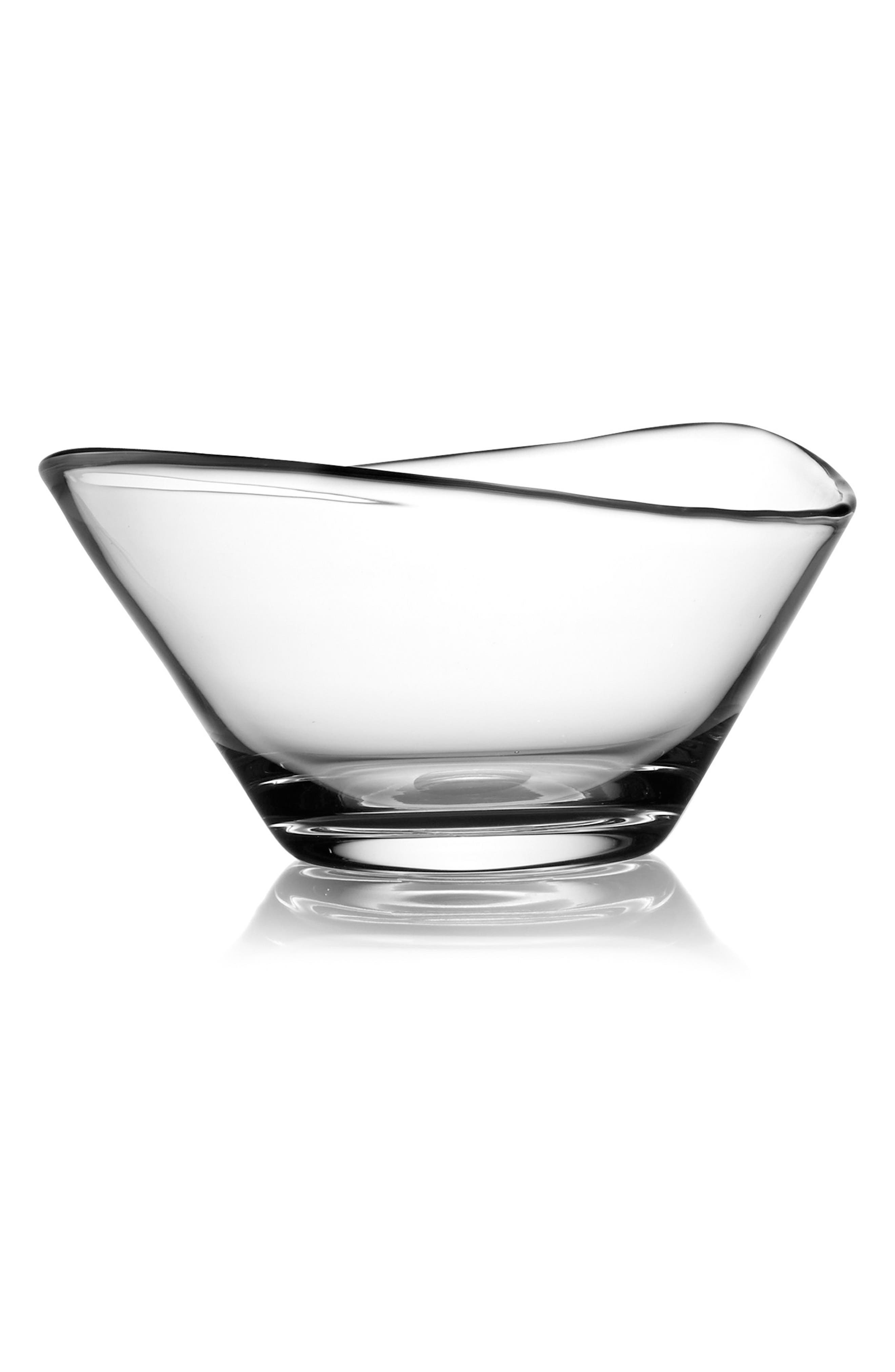 Moderne Small Bowl,                             Main thumbnail 1, color,                             Clear