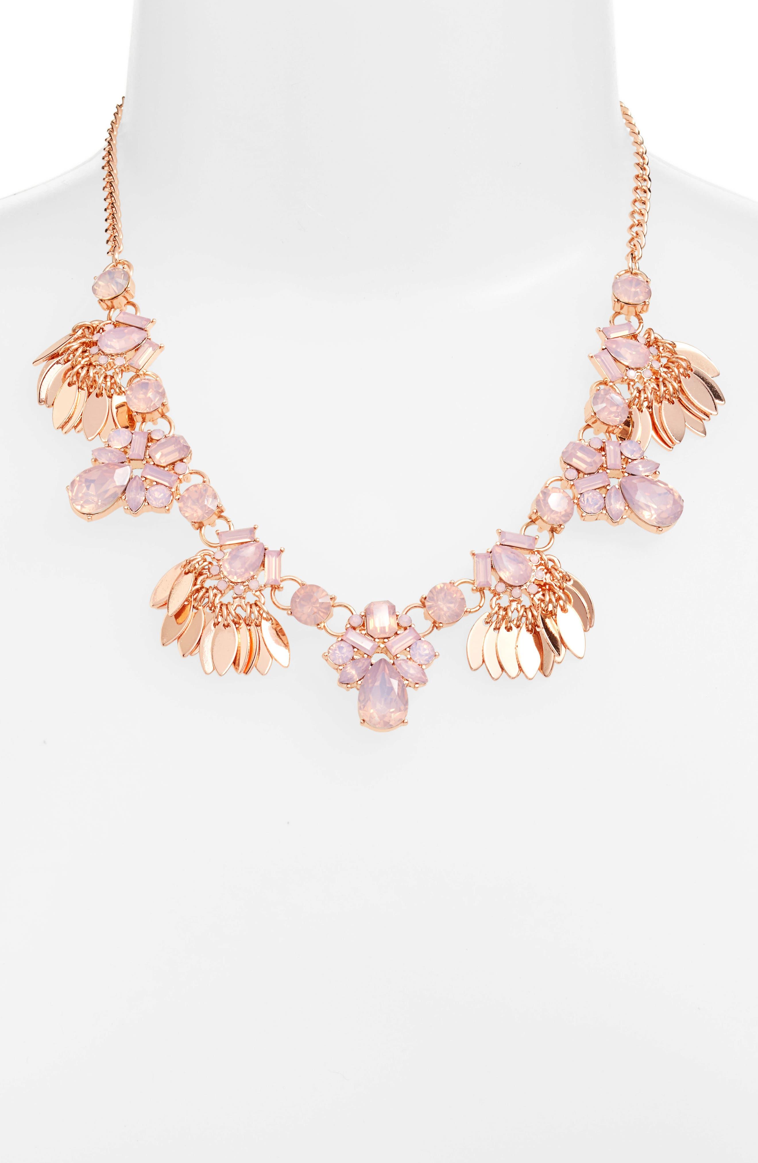 Main Image - Halogen® Jewel & Petal Statement Necklace