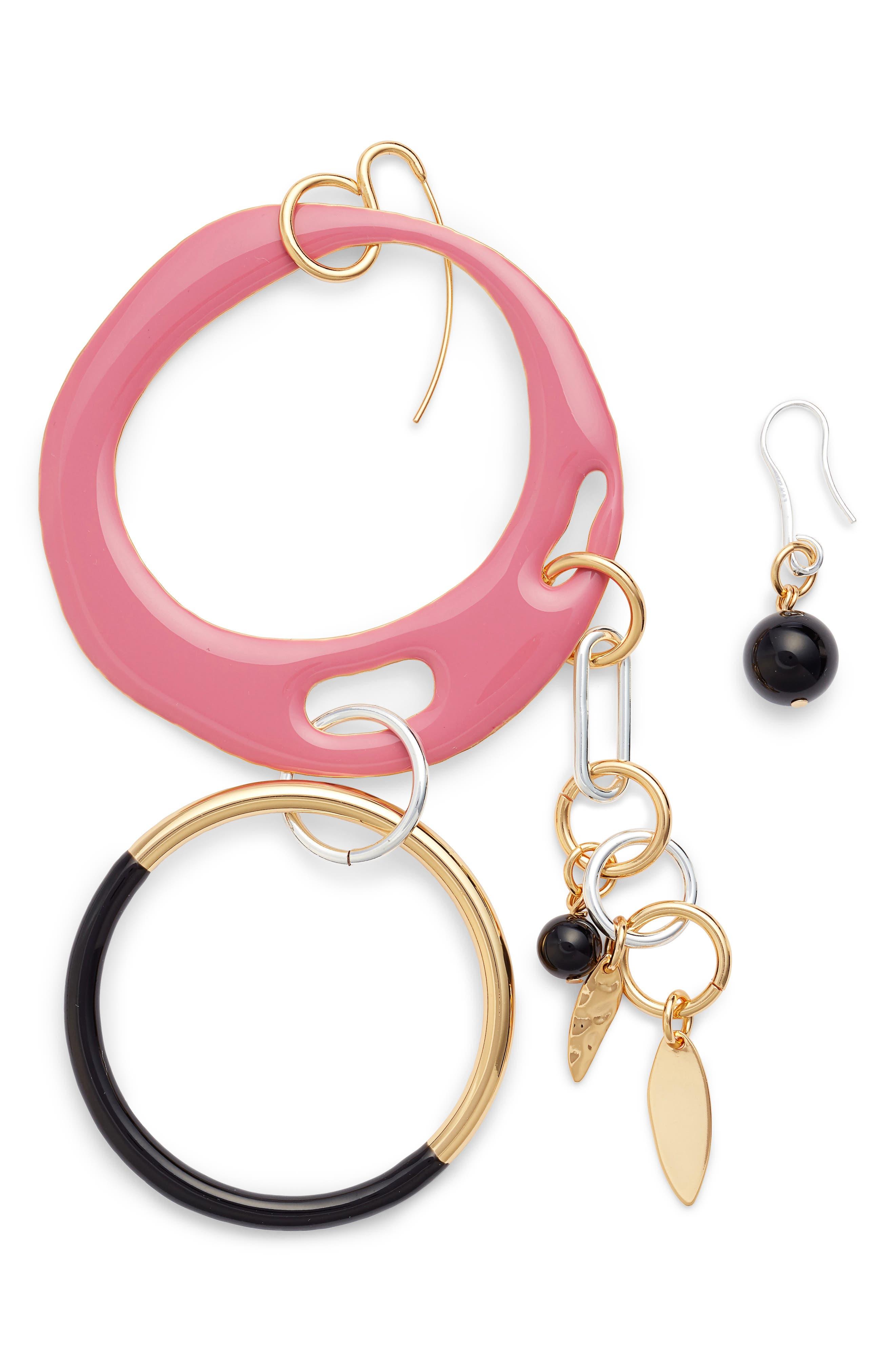DVF Asymmetrical Charm Earrings