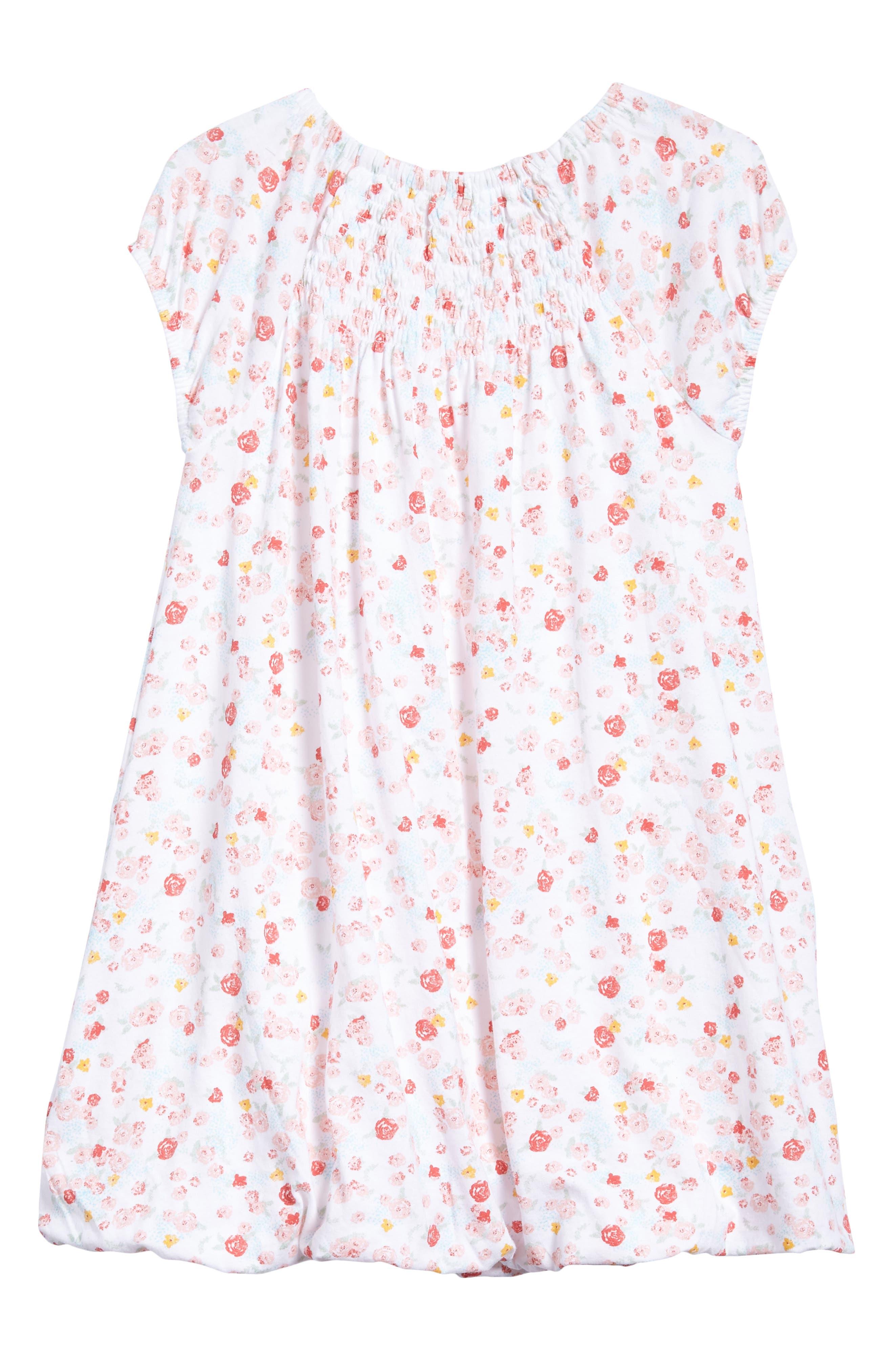 Ditsy Floral Print Bubble Dress,                             Alternate thumbnail 2, color,                             Cloud