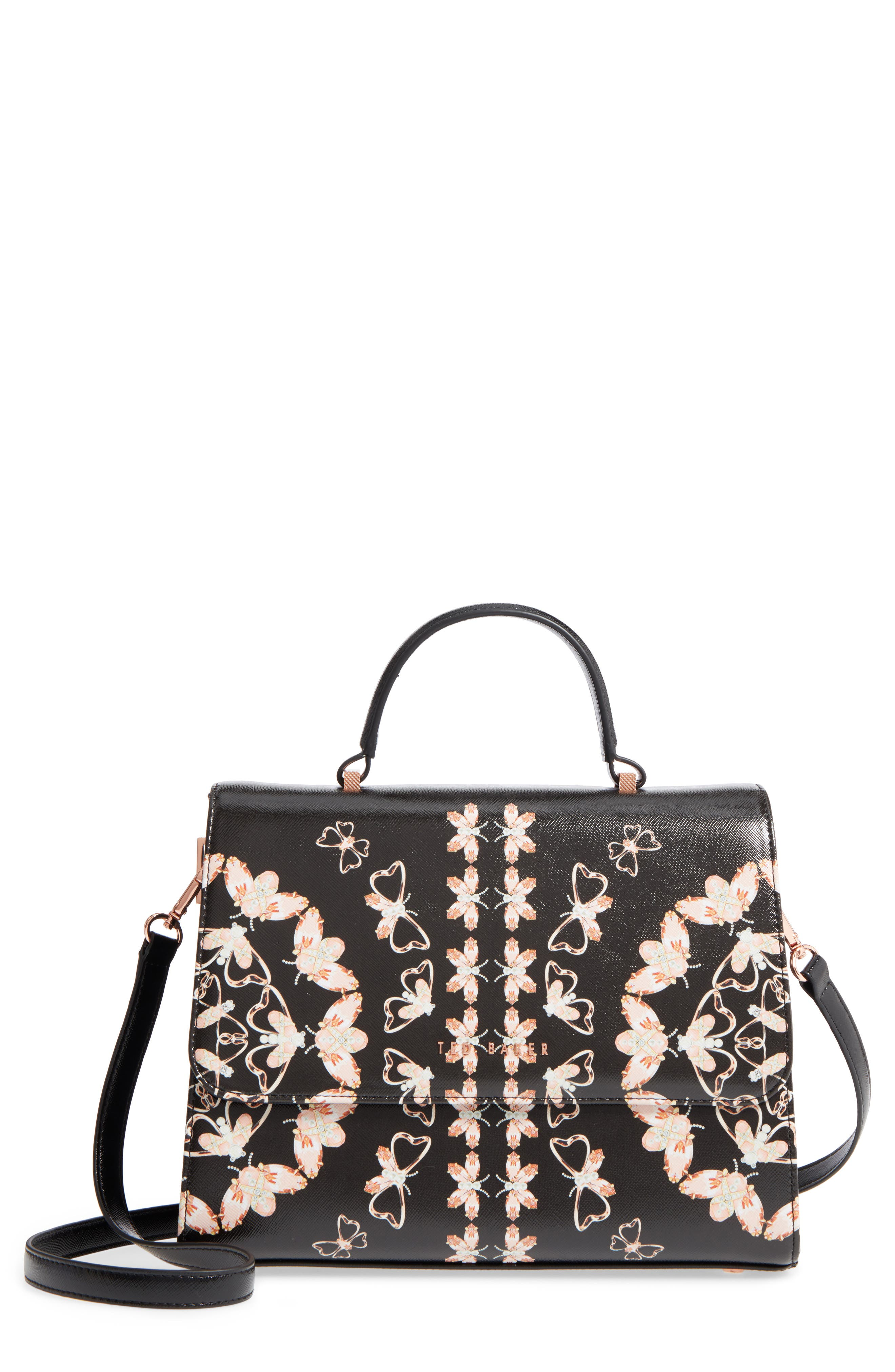 Main Image - Ted Baker London Buzzy Queen Bee Faux Leather Satchel