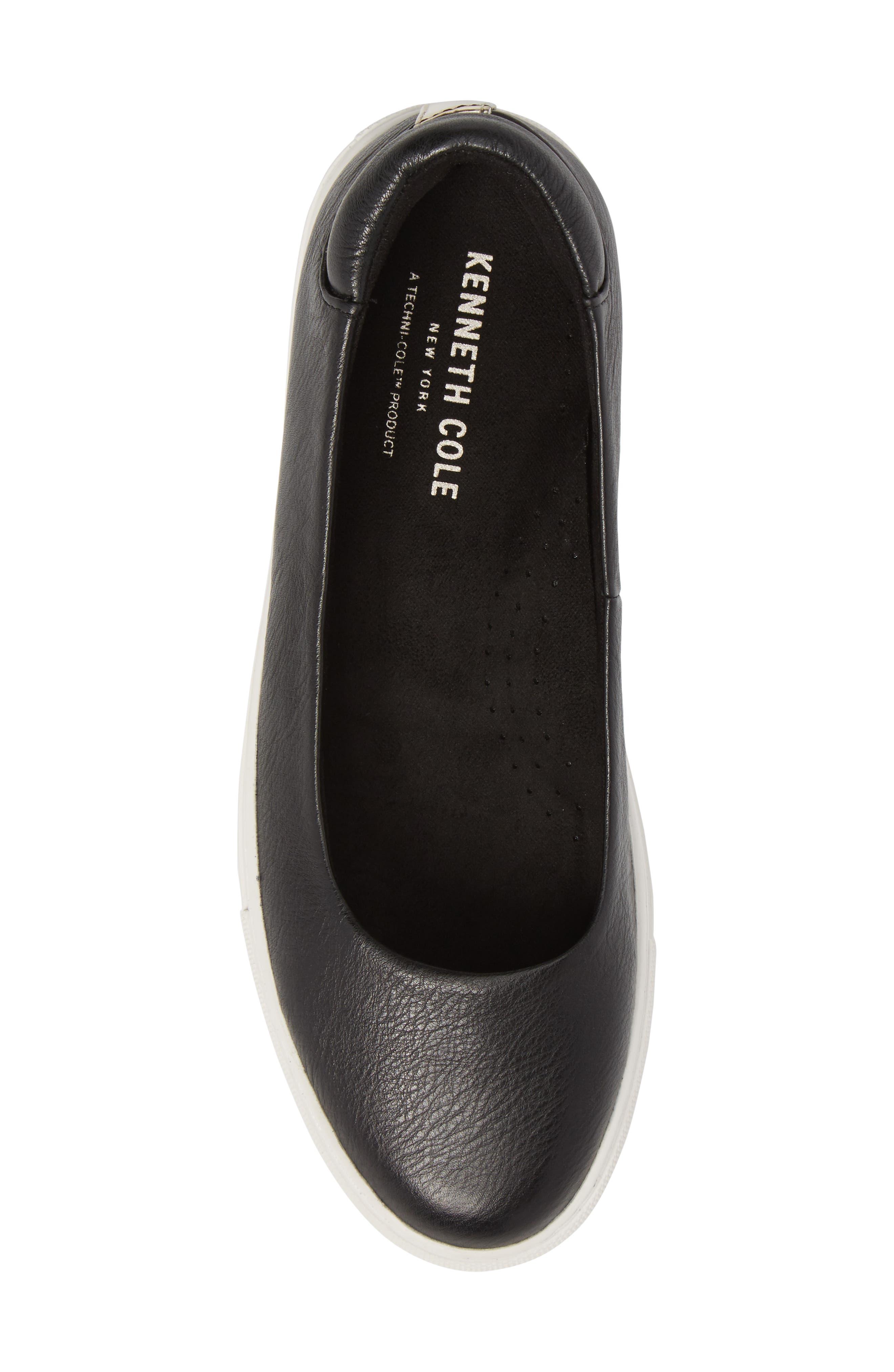 Kassie Flat,                             Alternate thumbnail 5, color,                             Black Leather