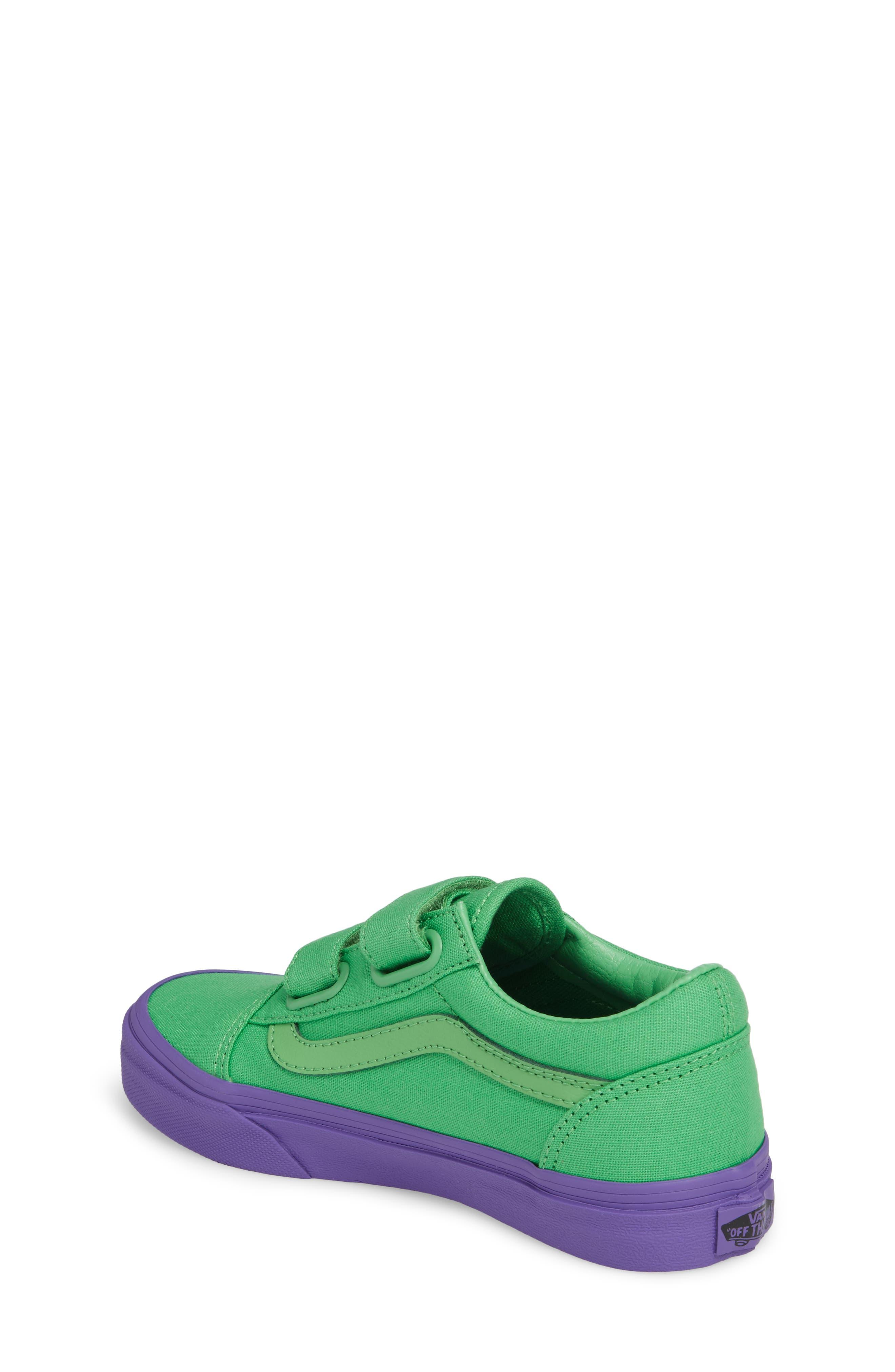 Old Skool V Sneaker,                             Alternate thumbnail 2, color,                             Green/ Purple Cosplay
