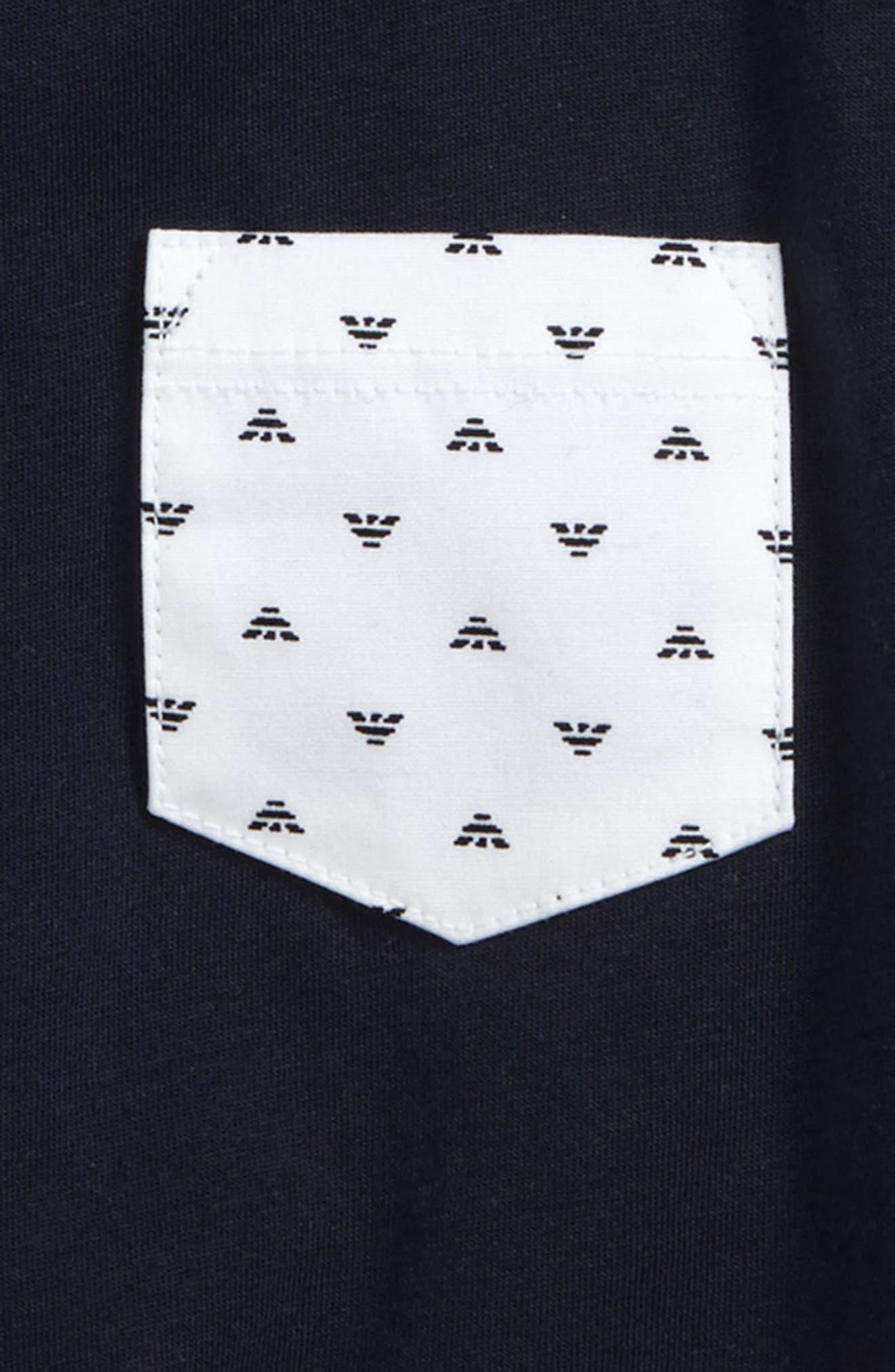 Logo Pocket T-Shirt,                             Alternate thumbnail 2, color,                             Navy
