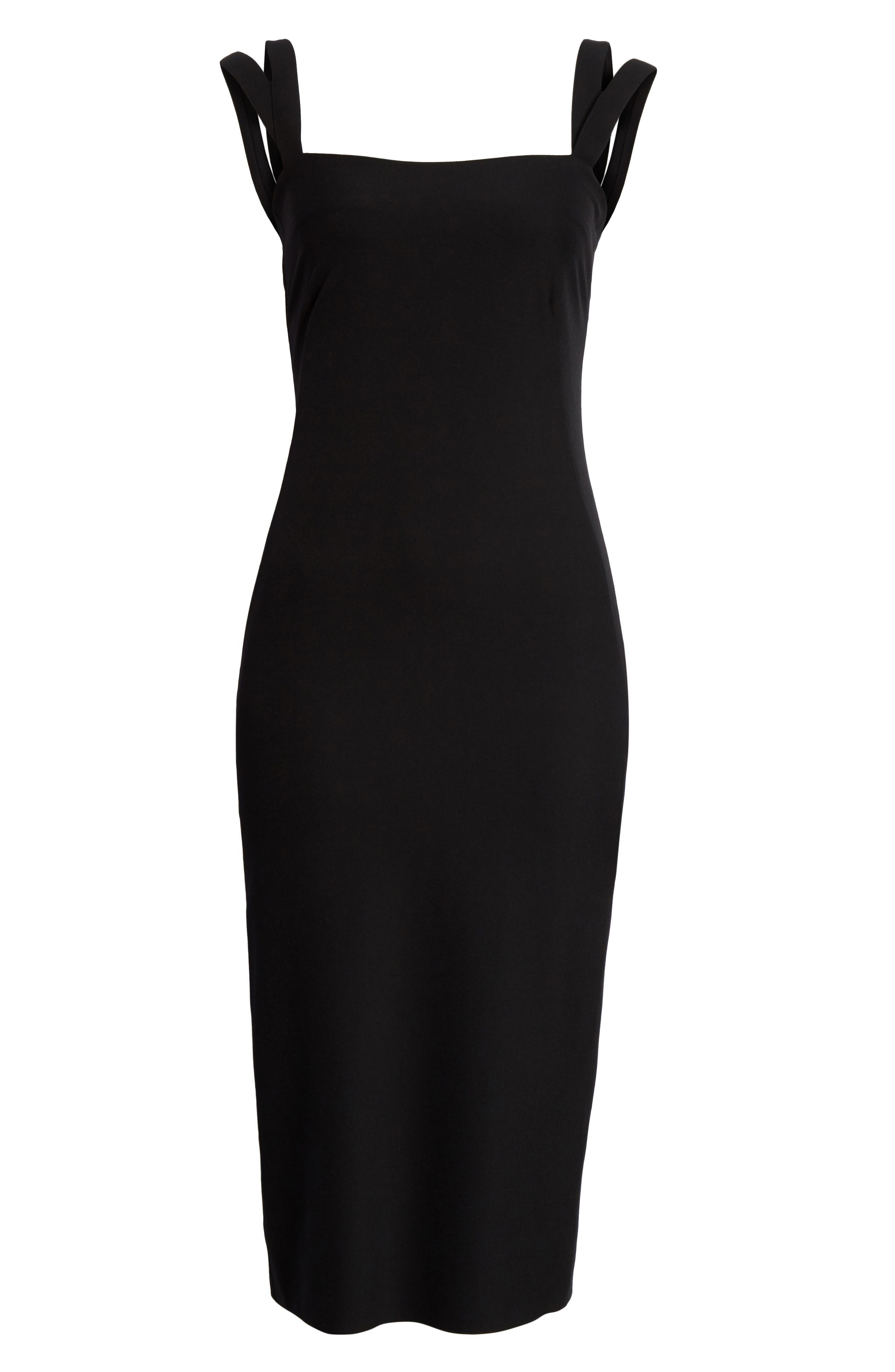 Perform Tech Perfect Sheath Dress,                             Alternate thumbnail 6, color,                             Black