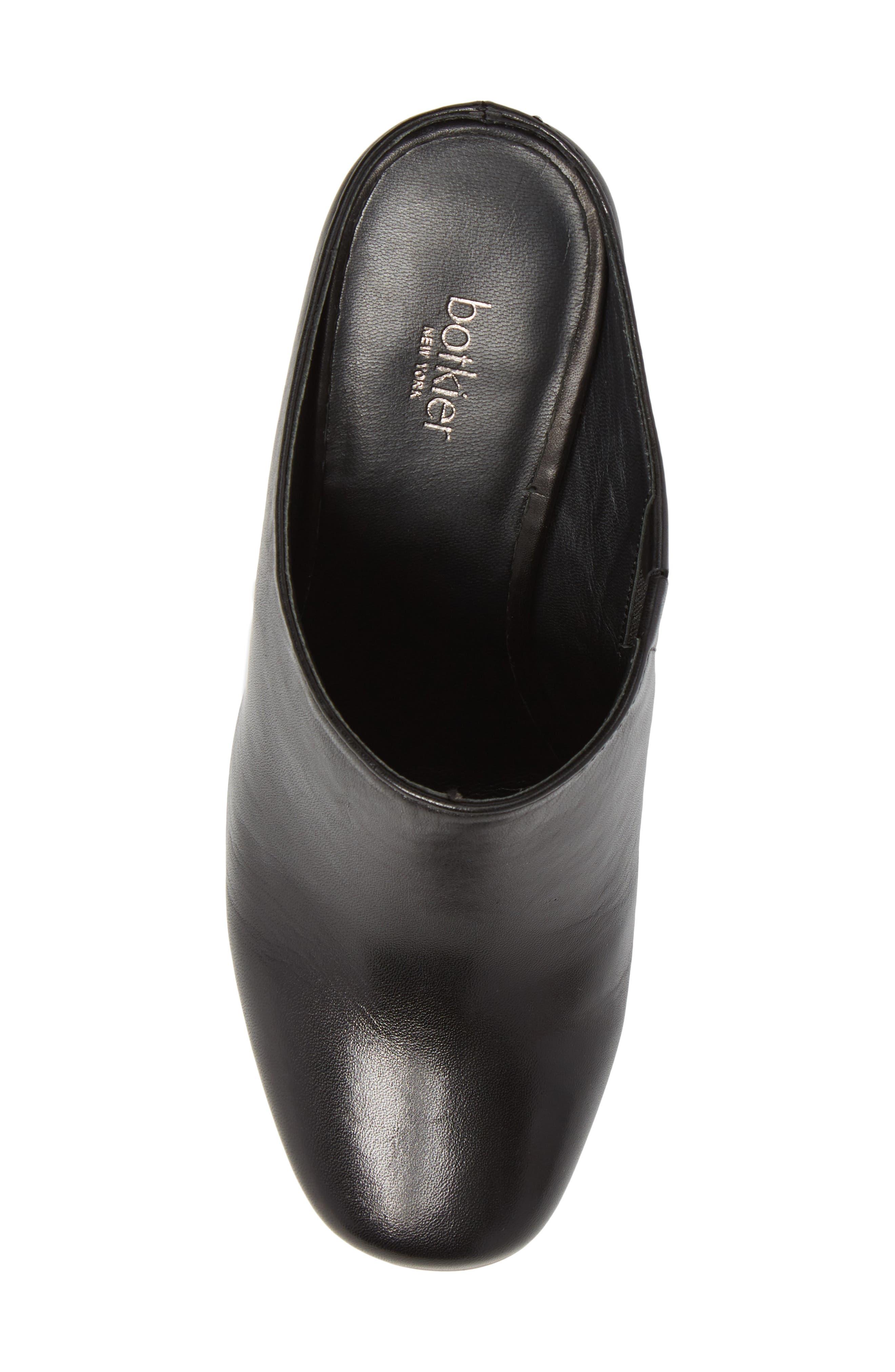 Sherry Mule,                             Alternate thumbnail 5, color,                             Black Nappa Leather