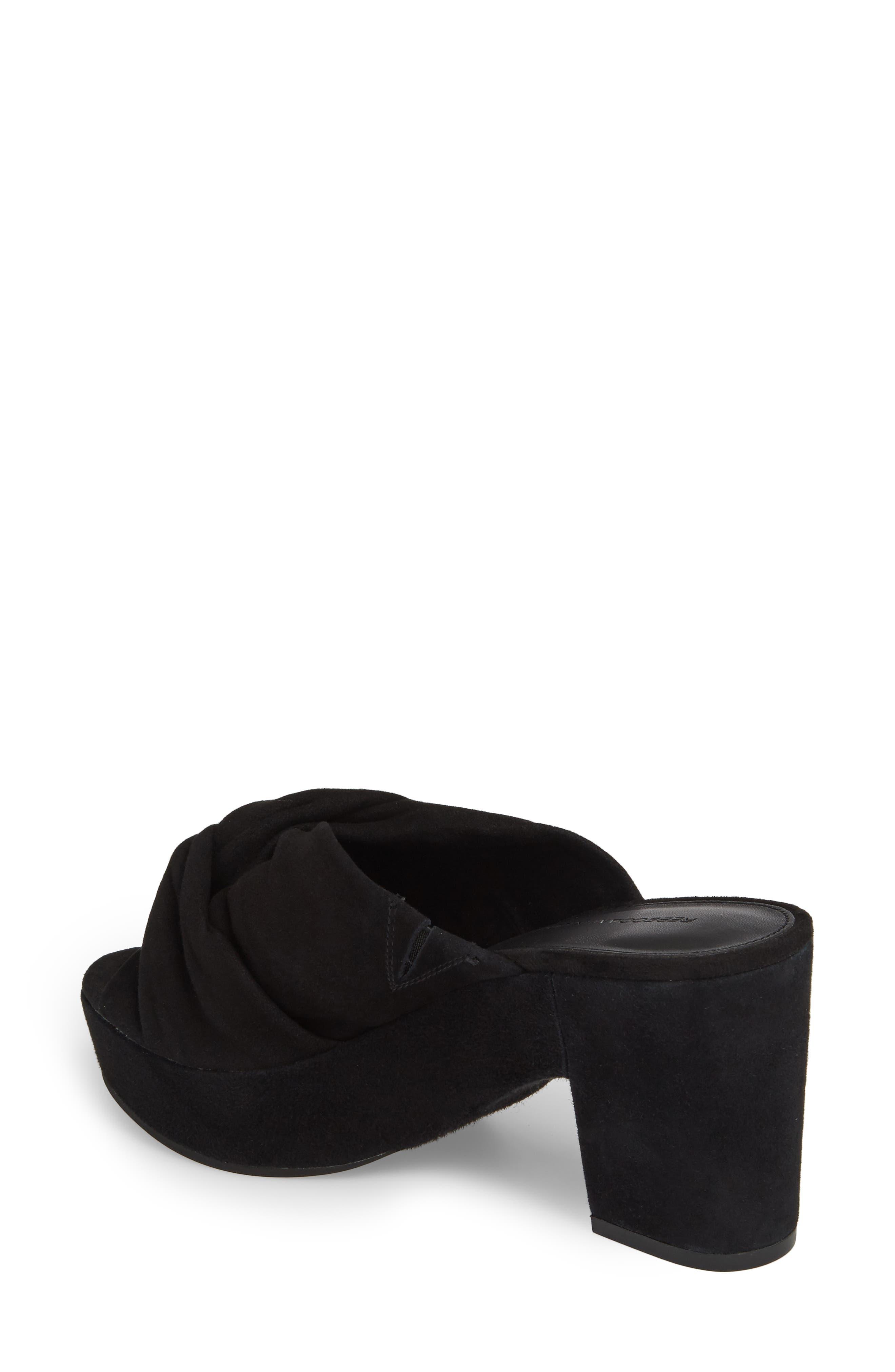 Jaden Slide Sandal,                             Alternate thumbnail 2, color,                             Black Satin