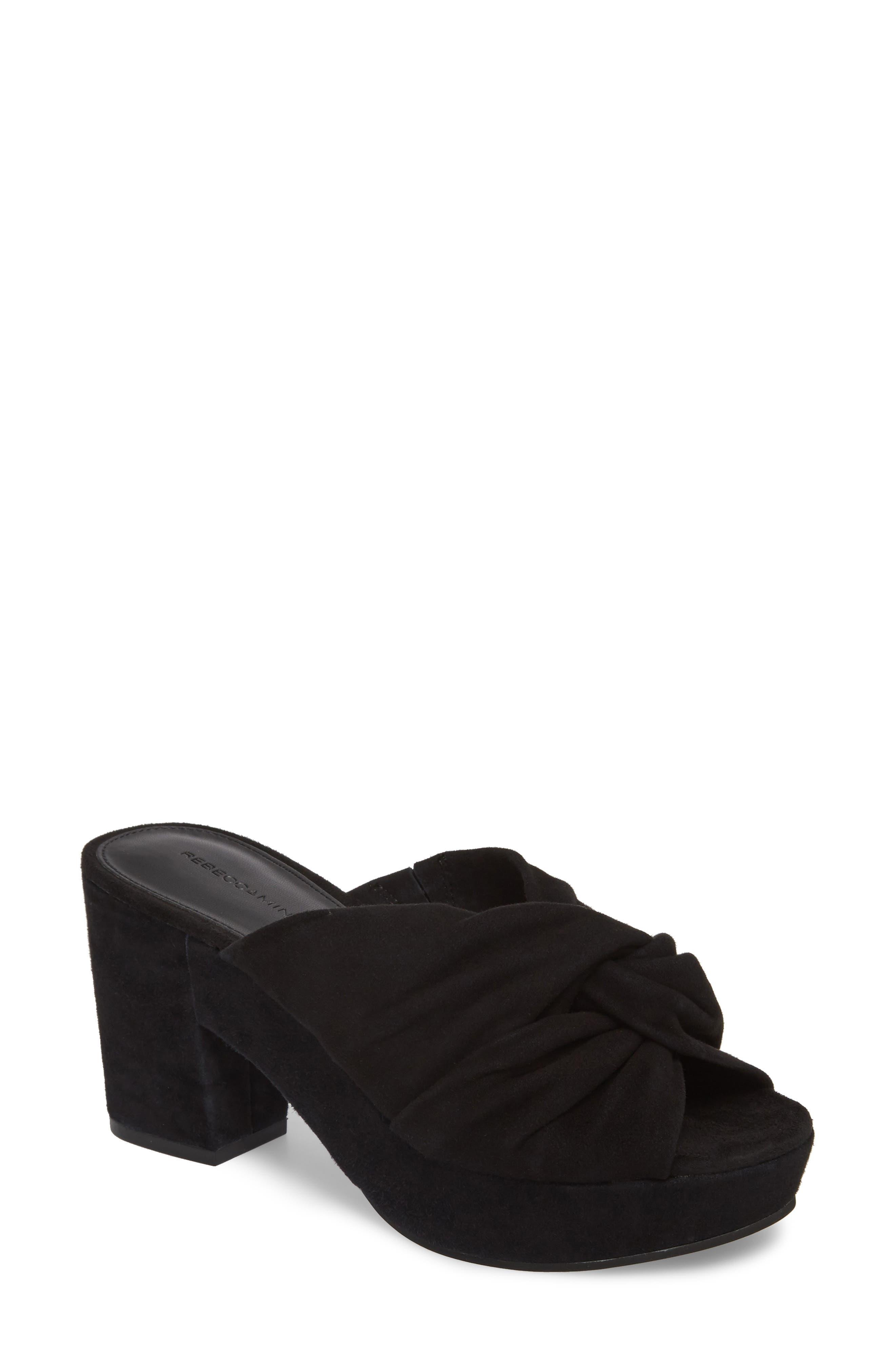 Jaden Slide Sandal,                         Main,                         color, Black Satin