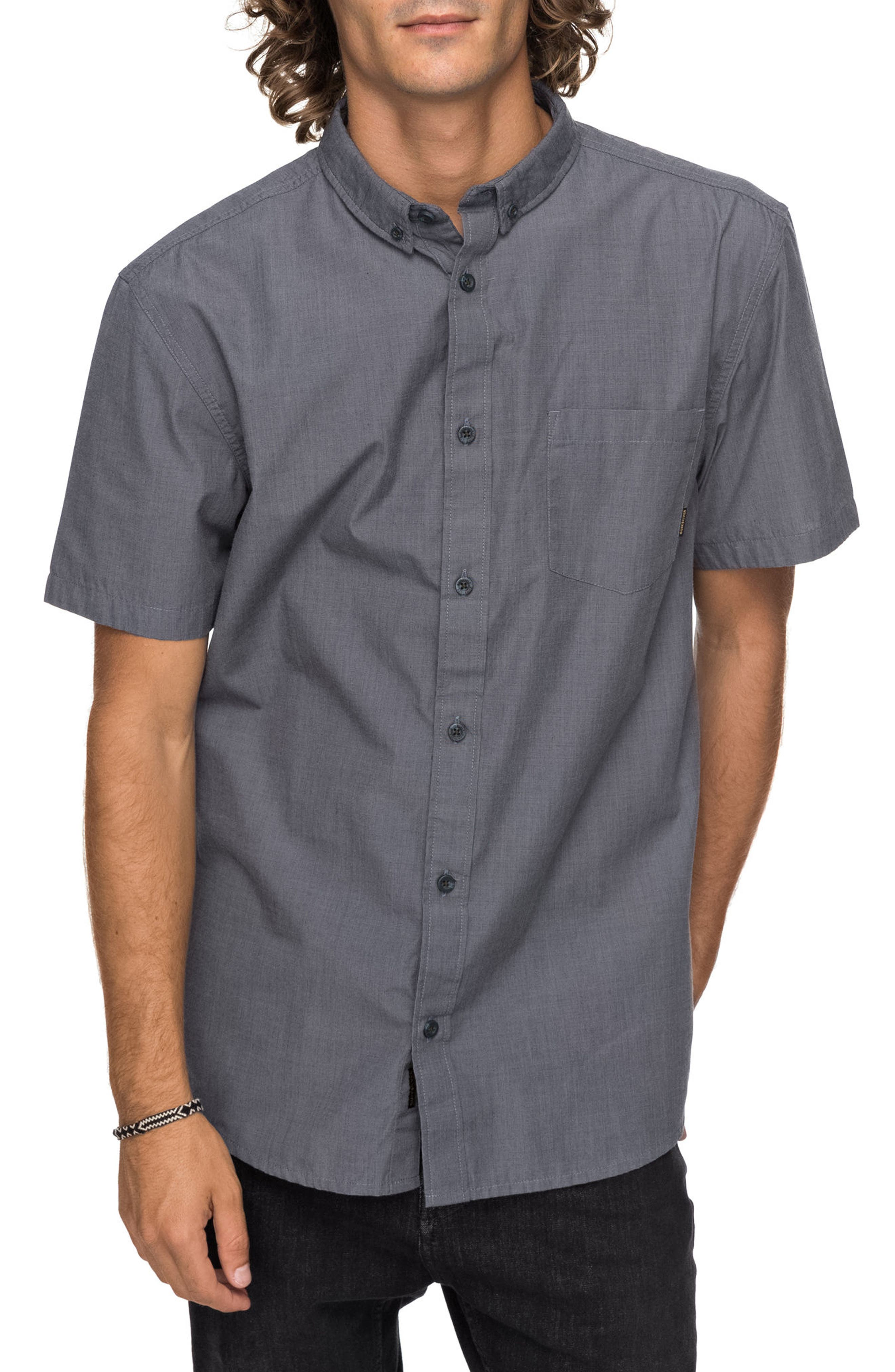 Valley Grove Woven Shirt,                         Main,                         color, Tarmac