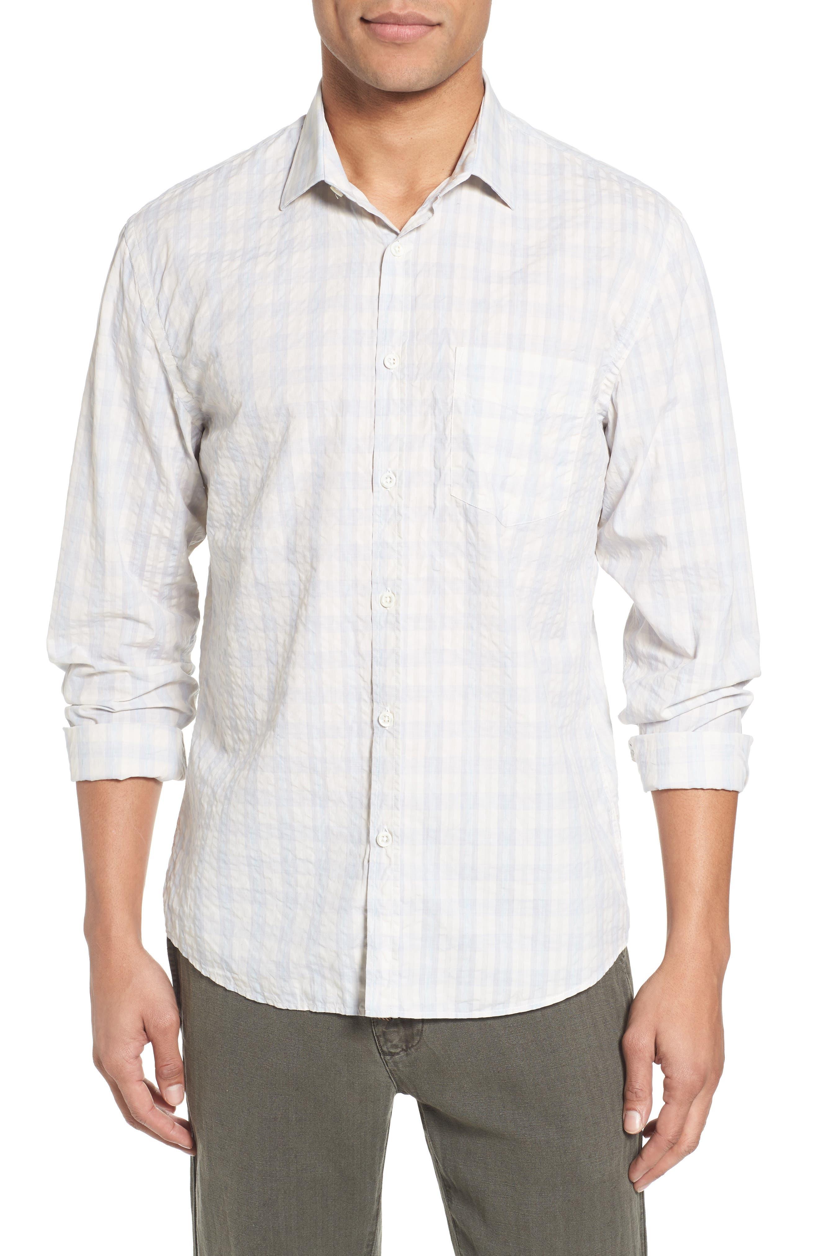 Alternate Image 1 Selected - Eleventy Aubergine Stripe Sport Shirt