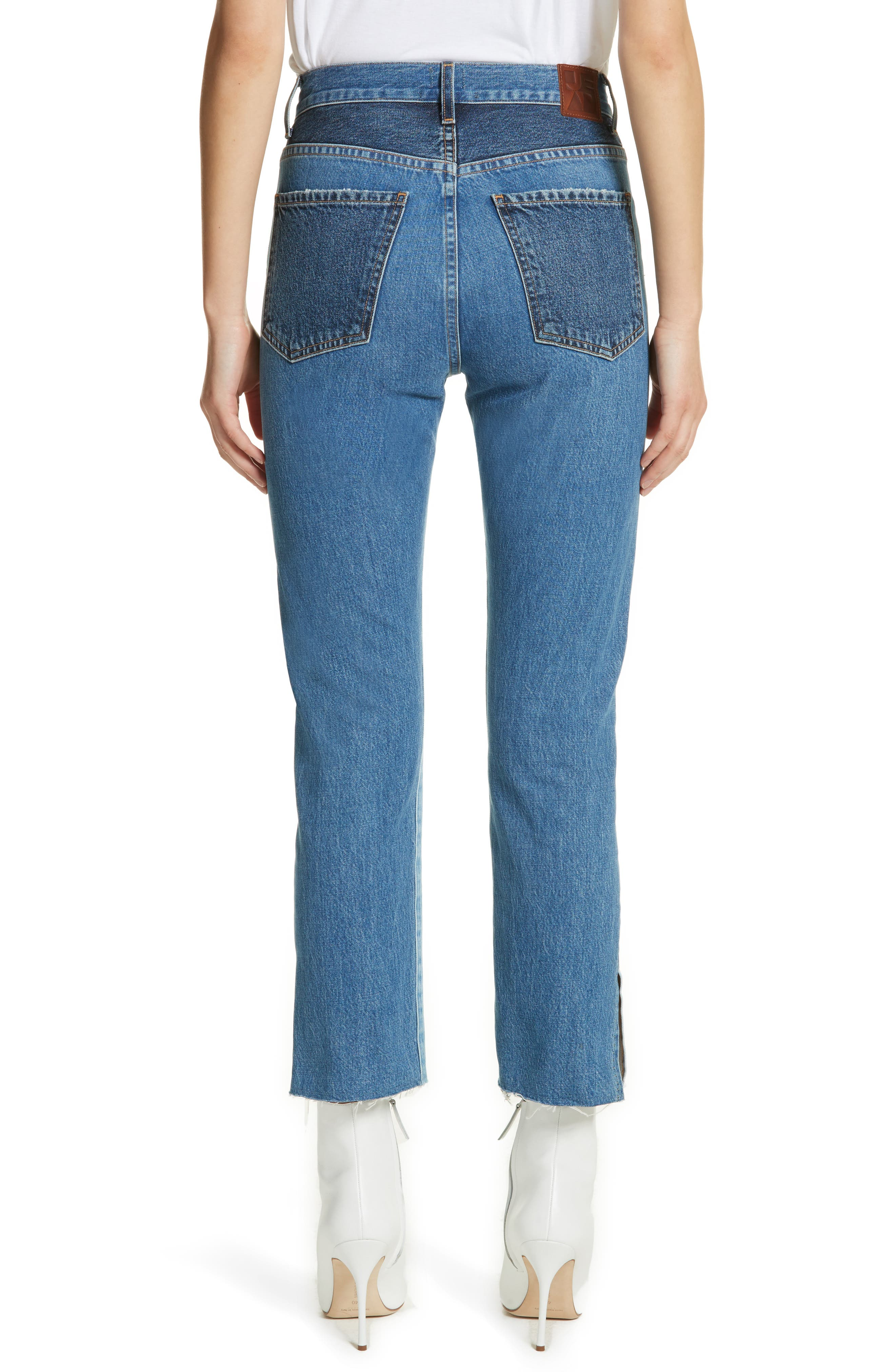 Hunter High Rise Straight Leg Crop Jeans,                             Alternate thumbnail 2, color,                             Jagger