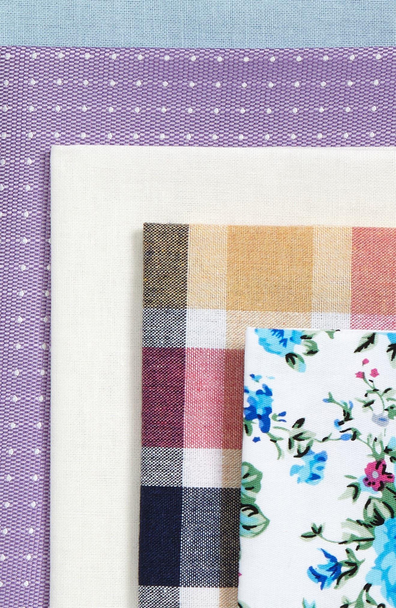 5-Pack Cotton Pocket Squares,                             Alternate thumbnail 2, color,                             Purple