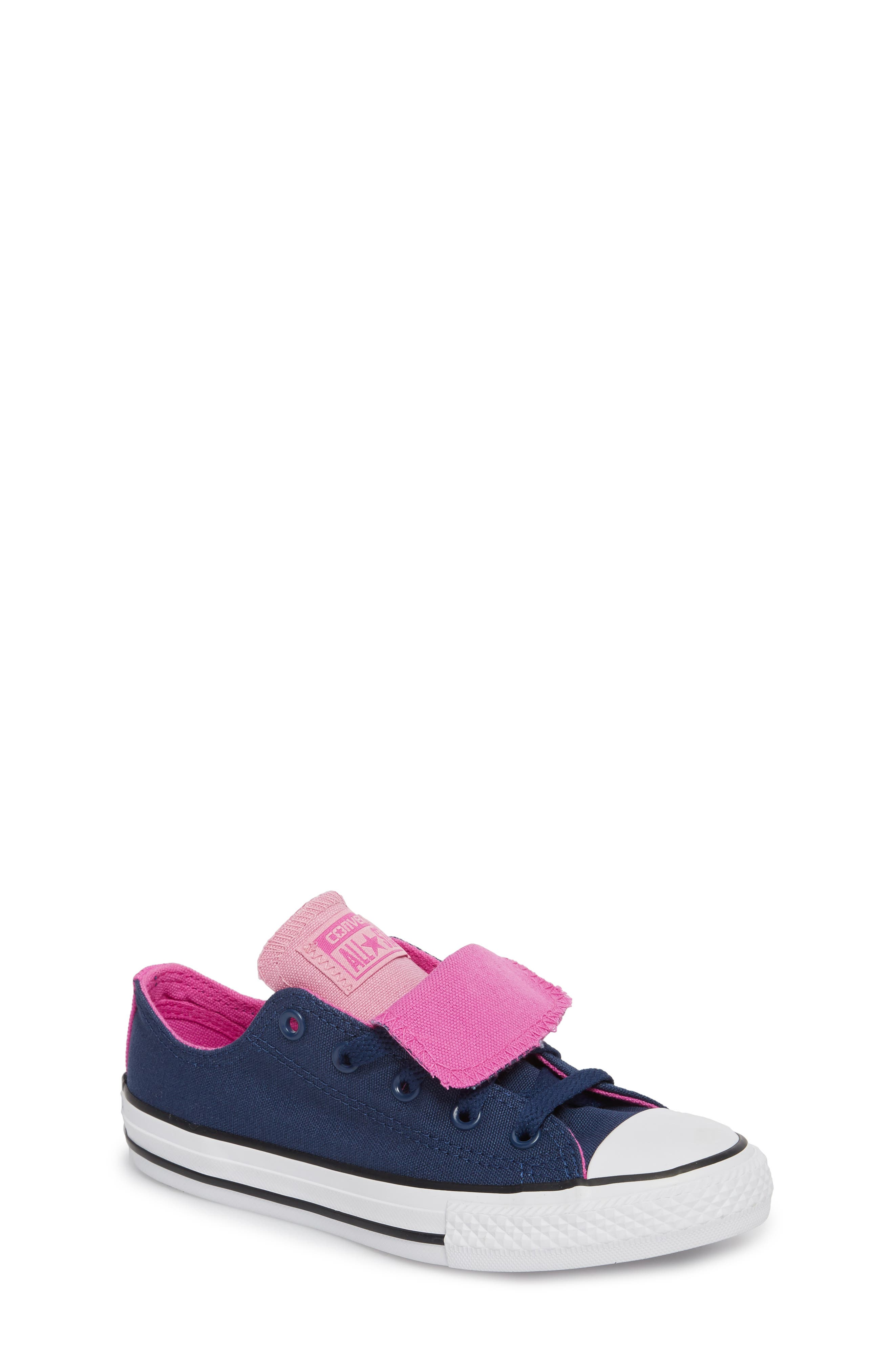 All Star<sup>®</sup> Double Tongue Sneaker,                             Main thumbnail 1, color,                             Navy