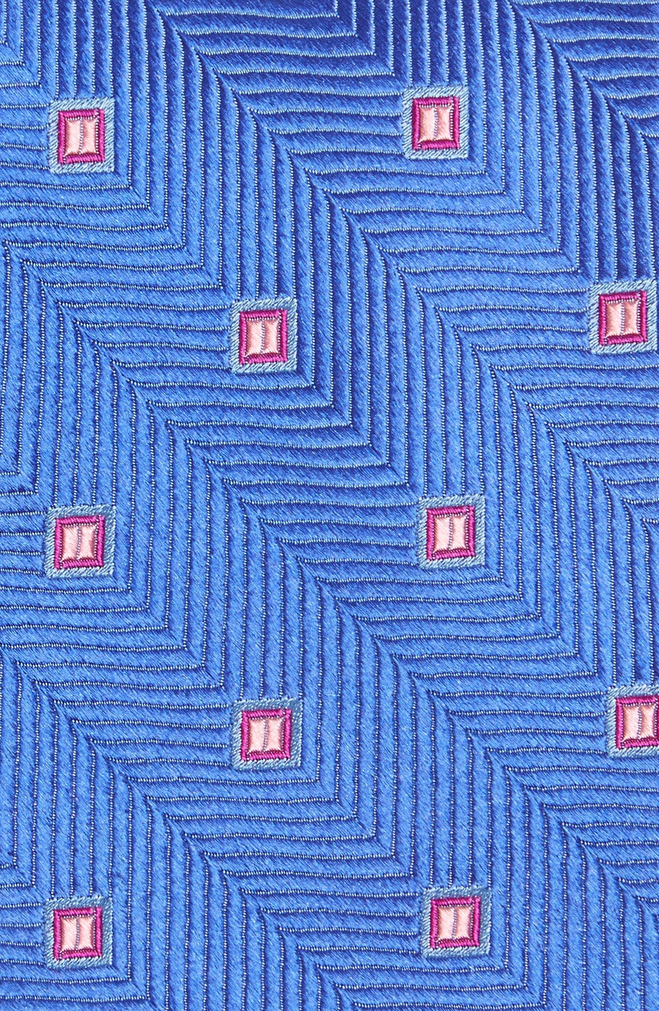 Blake Squares Geometric Silk Tie,                             Alternate thumbnail 2, color,                             Kentucky Blue