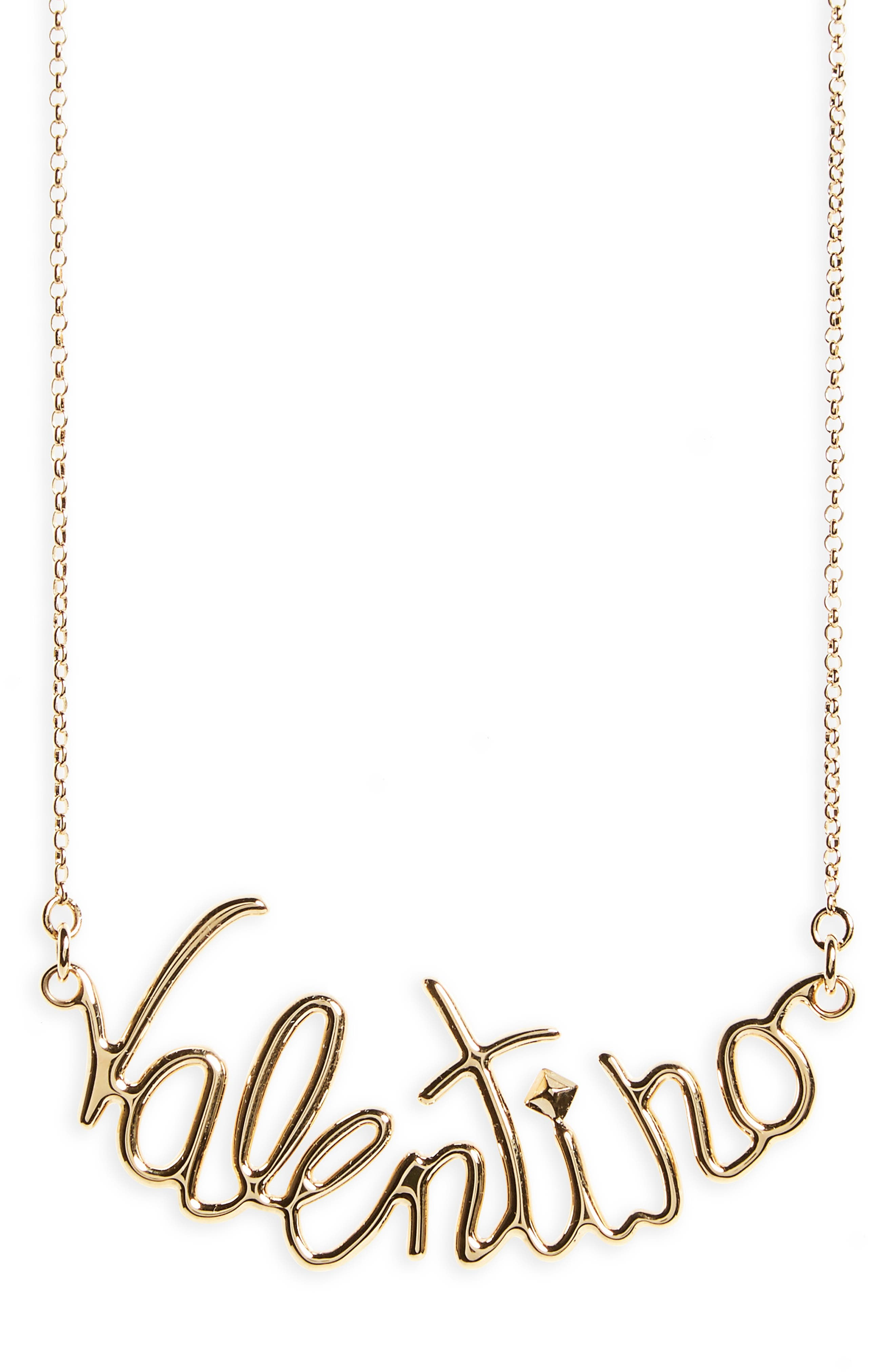Script Necklace,                         Main,                         color, Oro 18