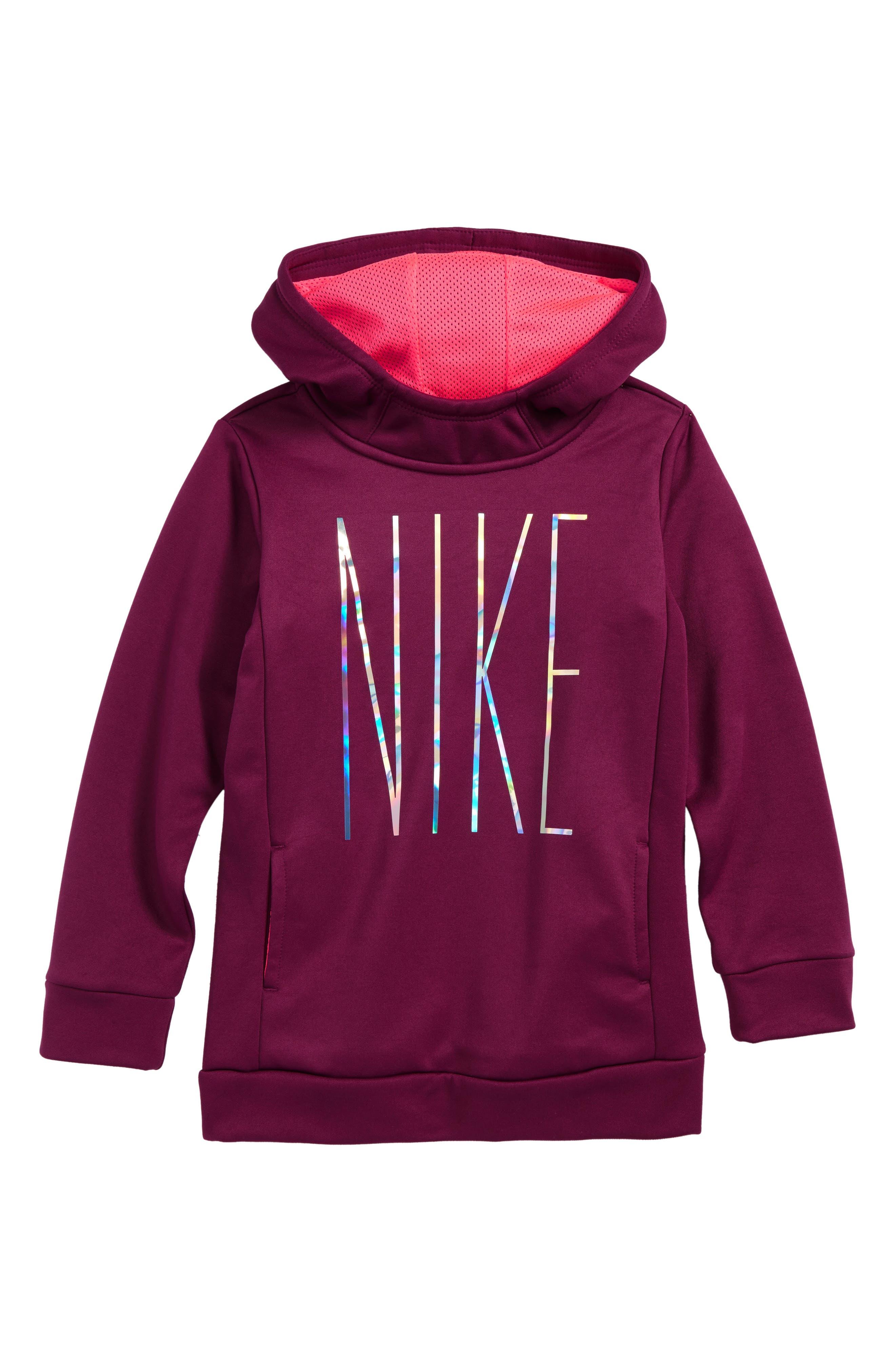 Alternate Image 1 Selected - Nike Therma-FIT Hoodie (Toddler Girls & Little Girls)