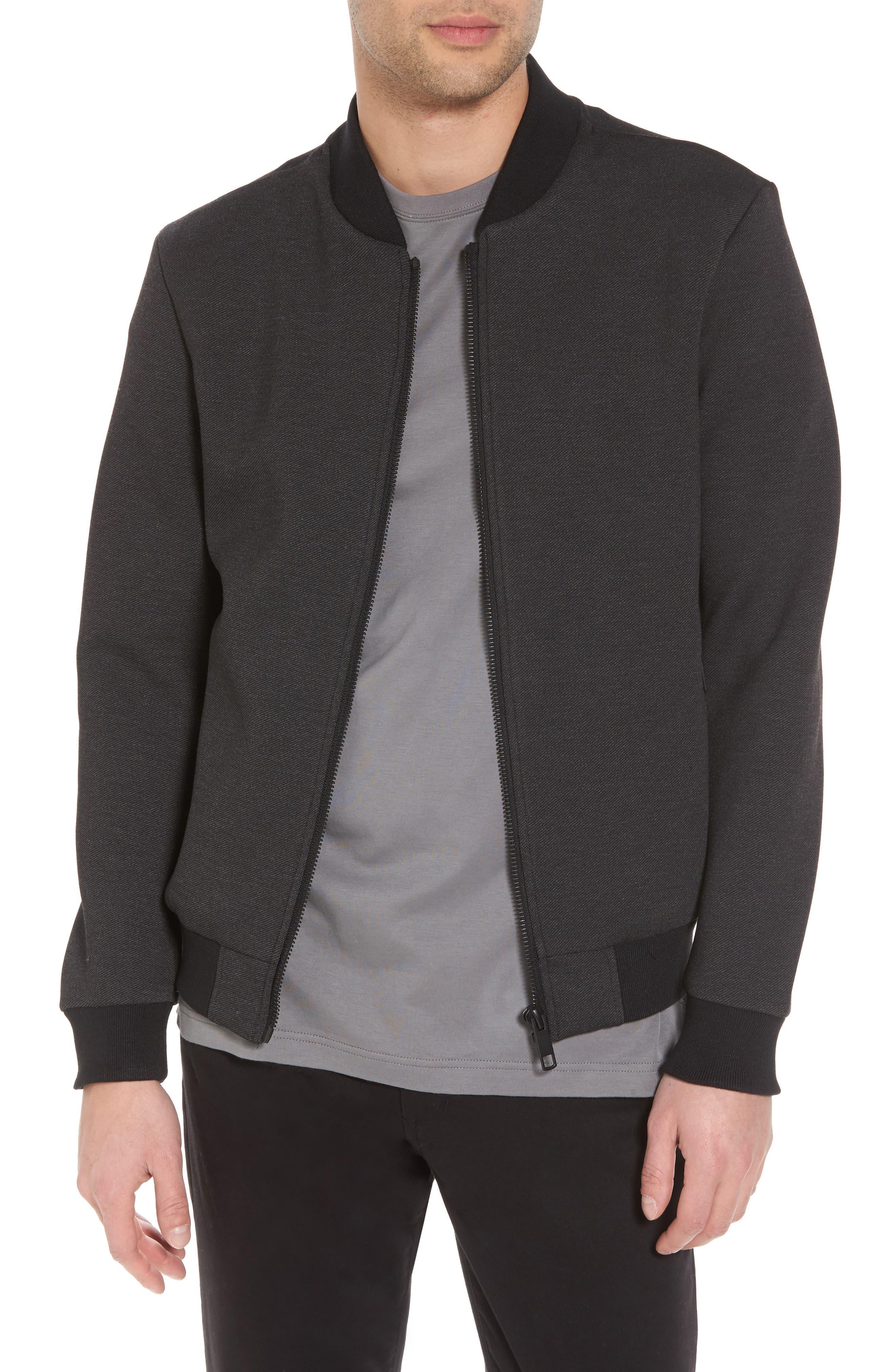 Bomber Jacket,                         Main,                         color, Dark Melange
