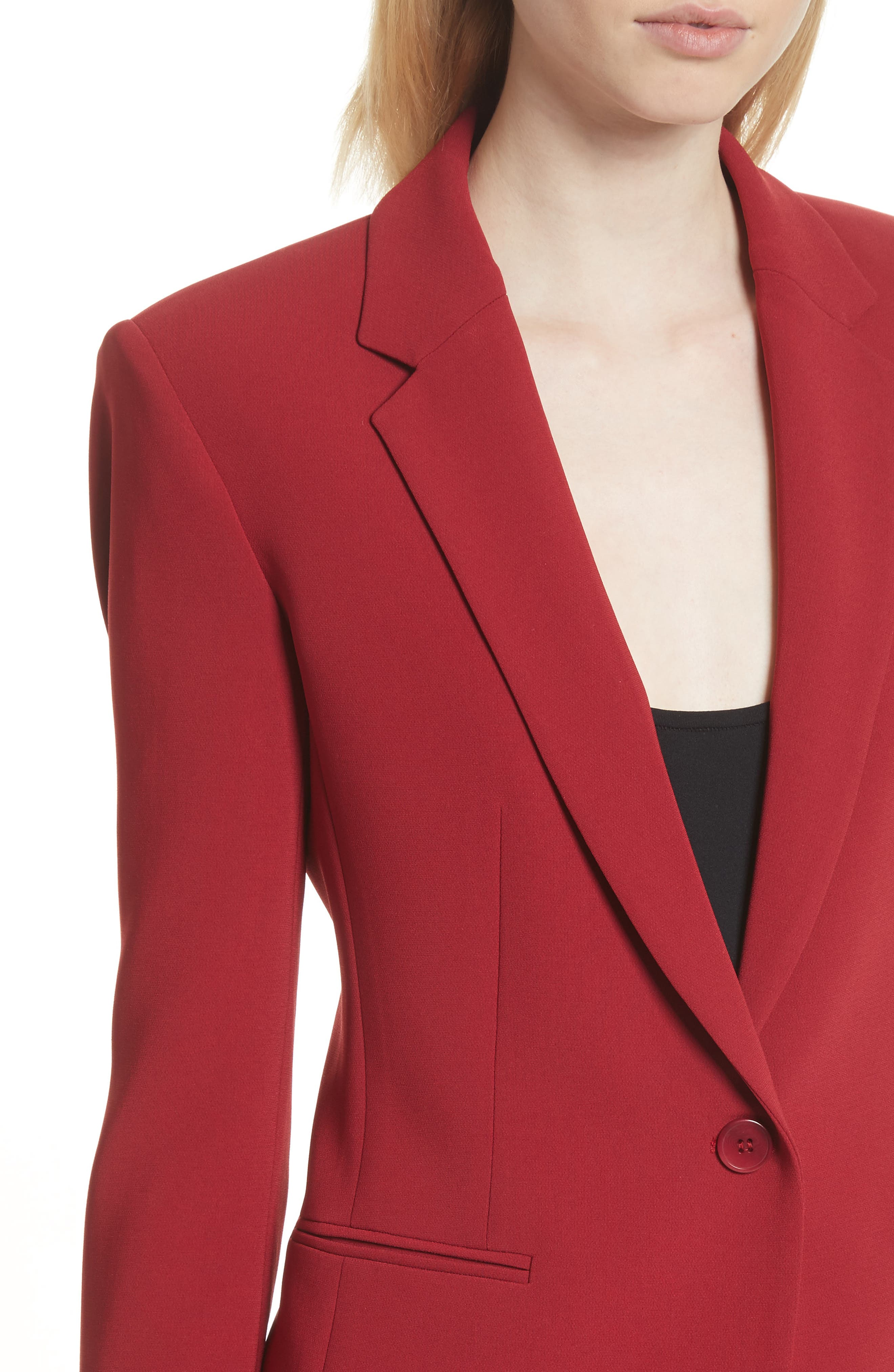 Admiral Crepe Power Jacket,                             Alternate thumbnail 4, color,                             Bright Raspberry