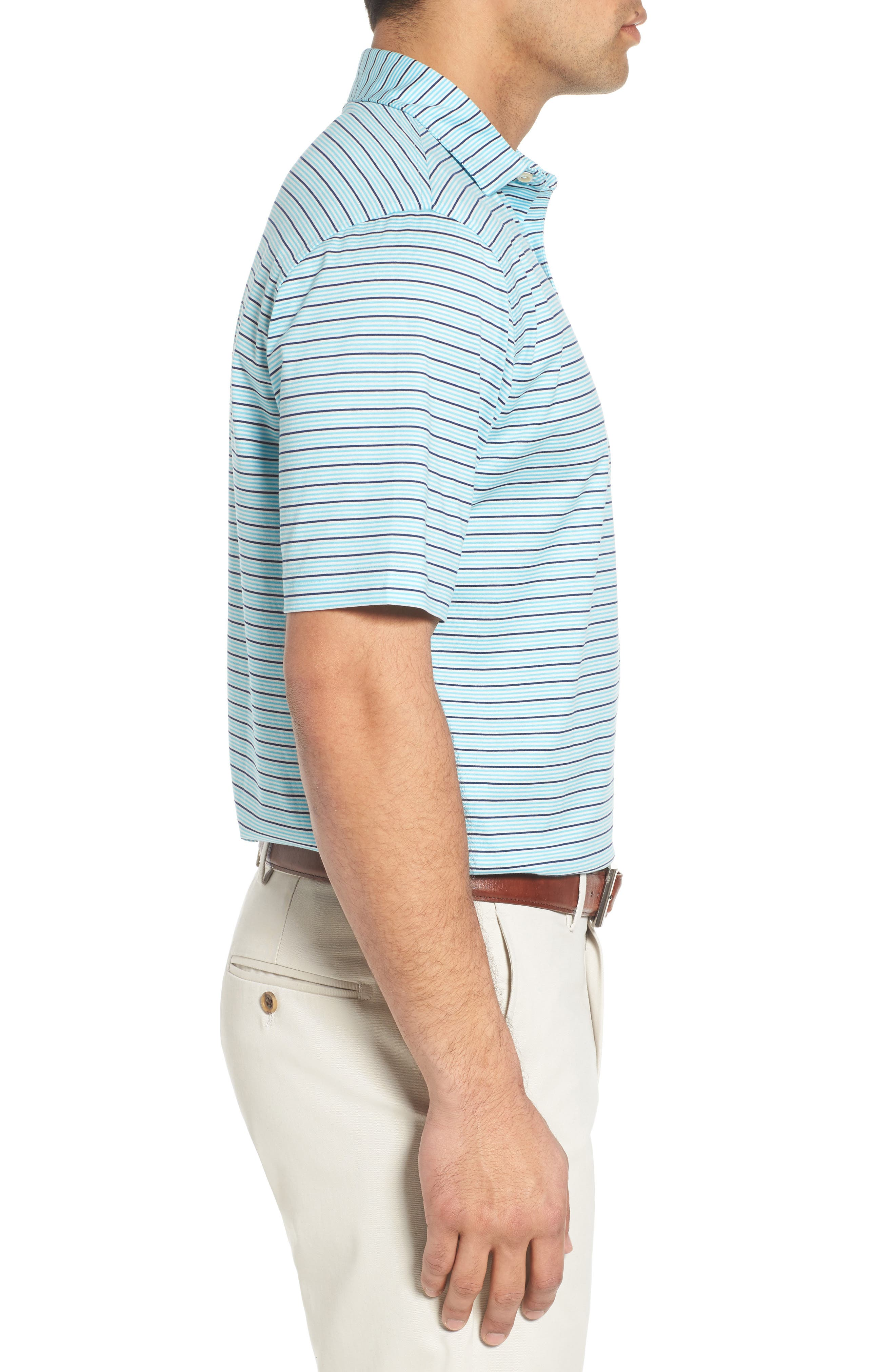 Alternate Image 3  - Peter Millar Grandview Sean Stripe Nanoluxe Polo