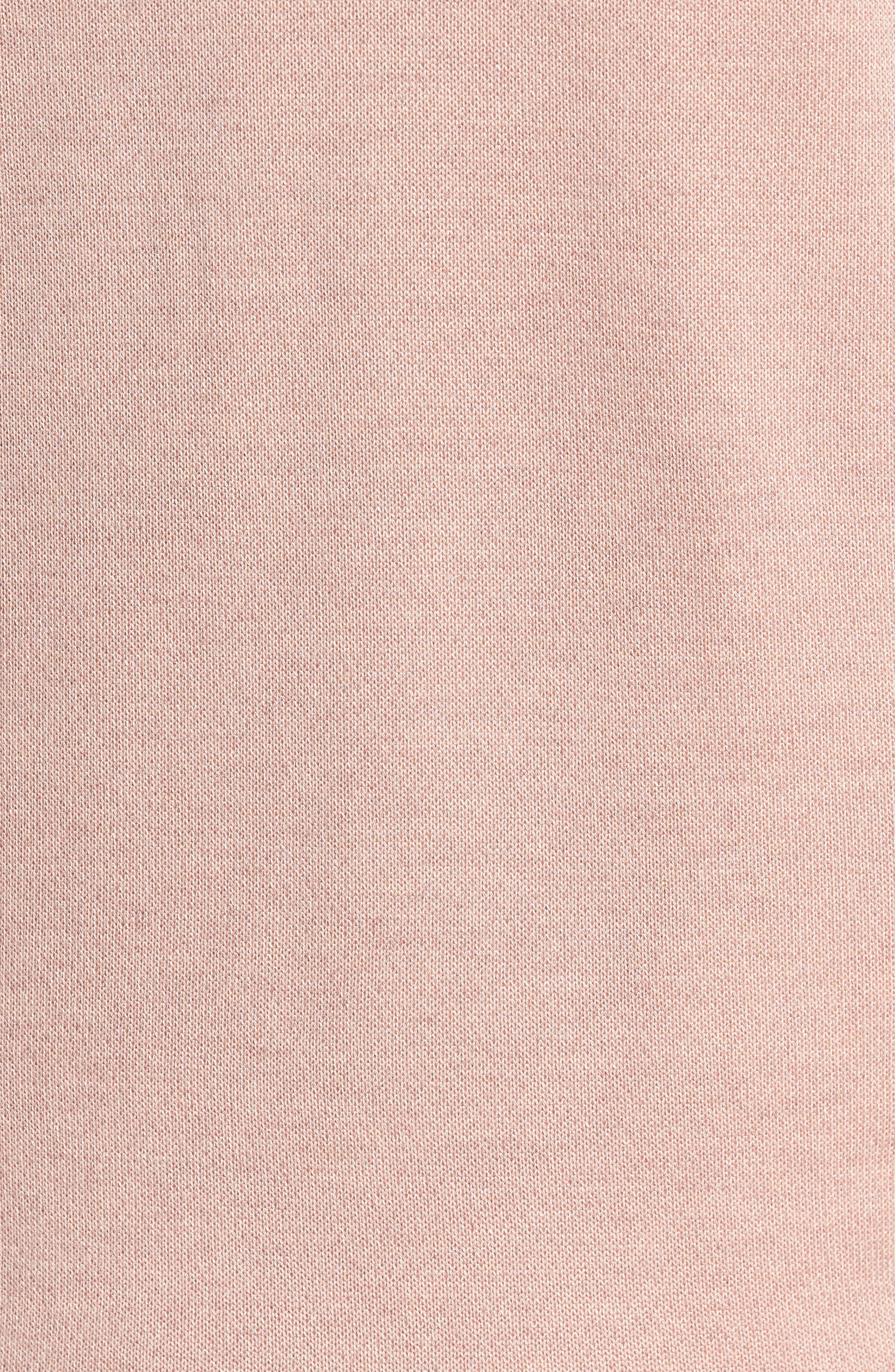 Valerio Quarter Zip Pullover,                             Alternate thumbnail 5, color,                             Dusky Pink