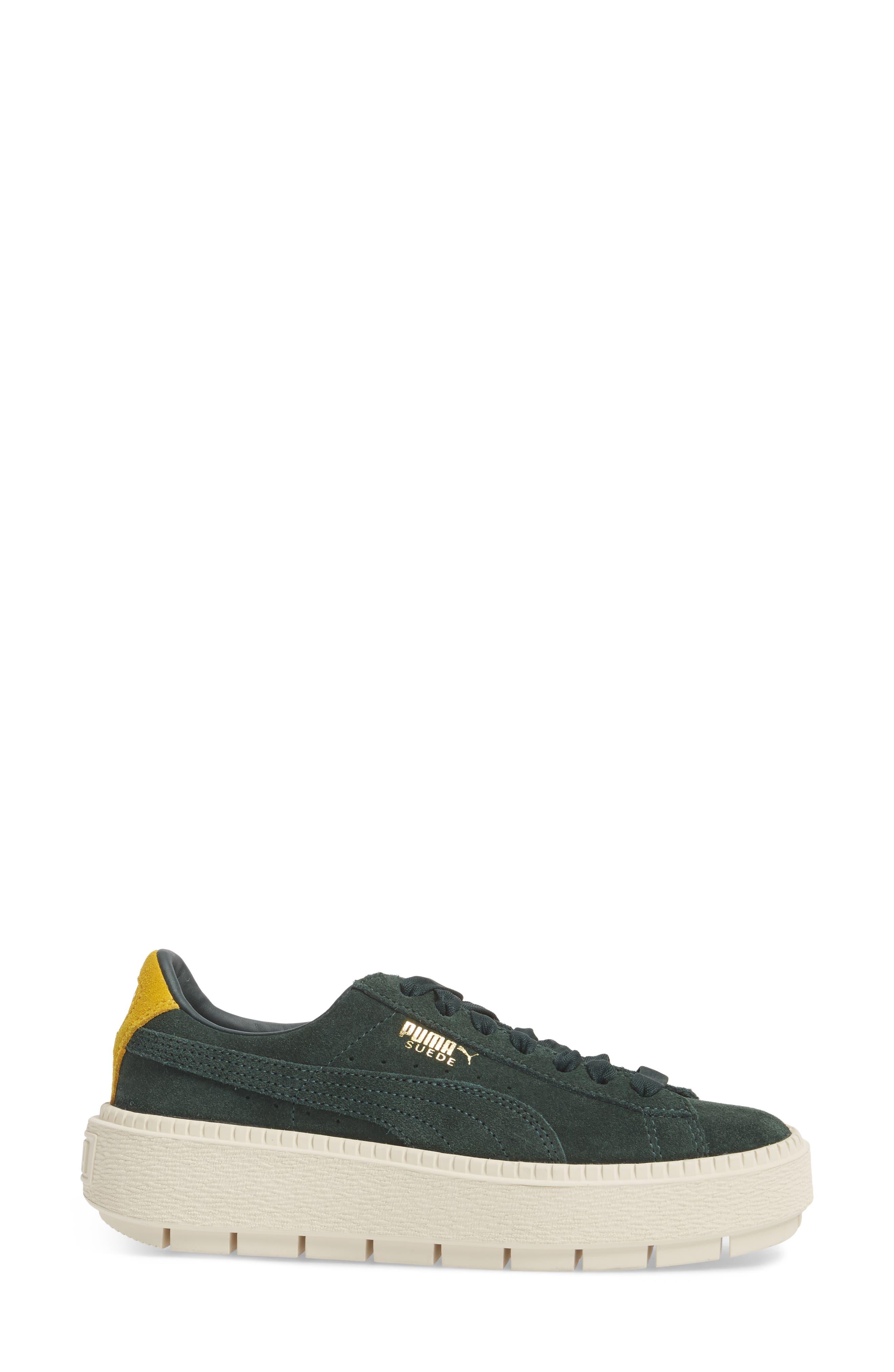 Platform Trace Bold Sneaker,                             Alternate thumbnail 3, color,                             Scrab-Lemon -Vanilla Ice