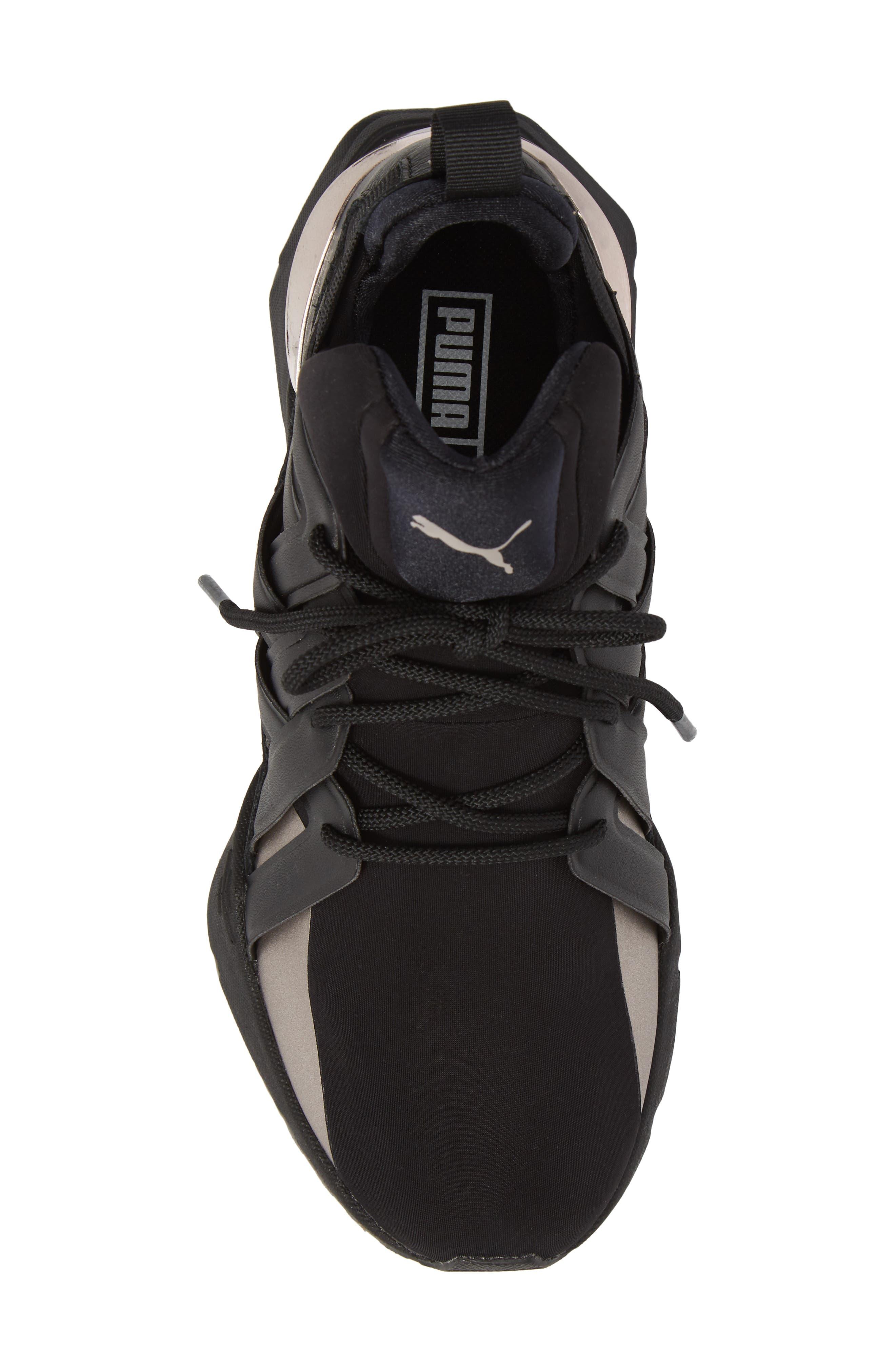 Muse Echo Sneaker,                             Alternate thumbnail 5, color,                             Puma Black