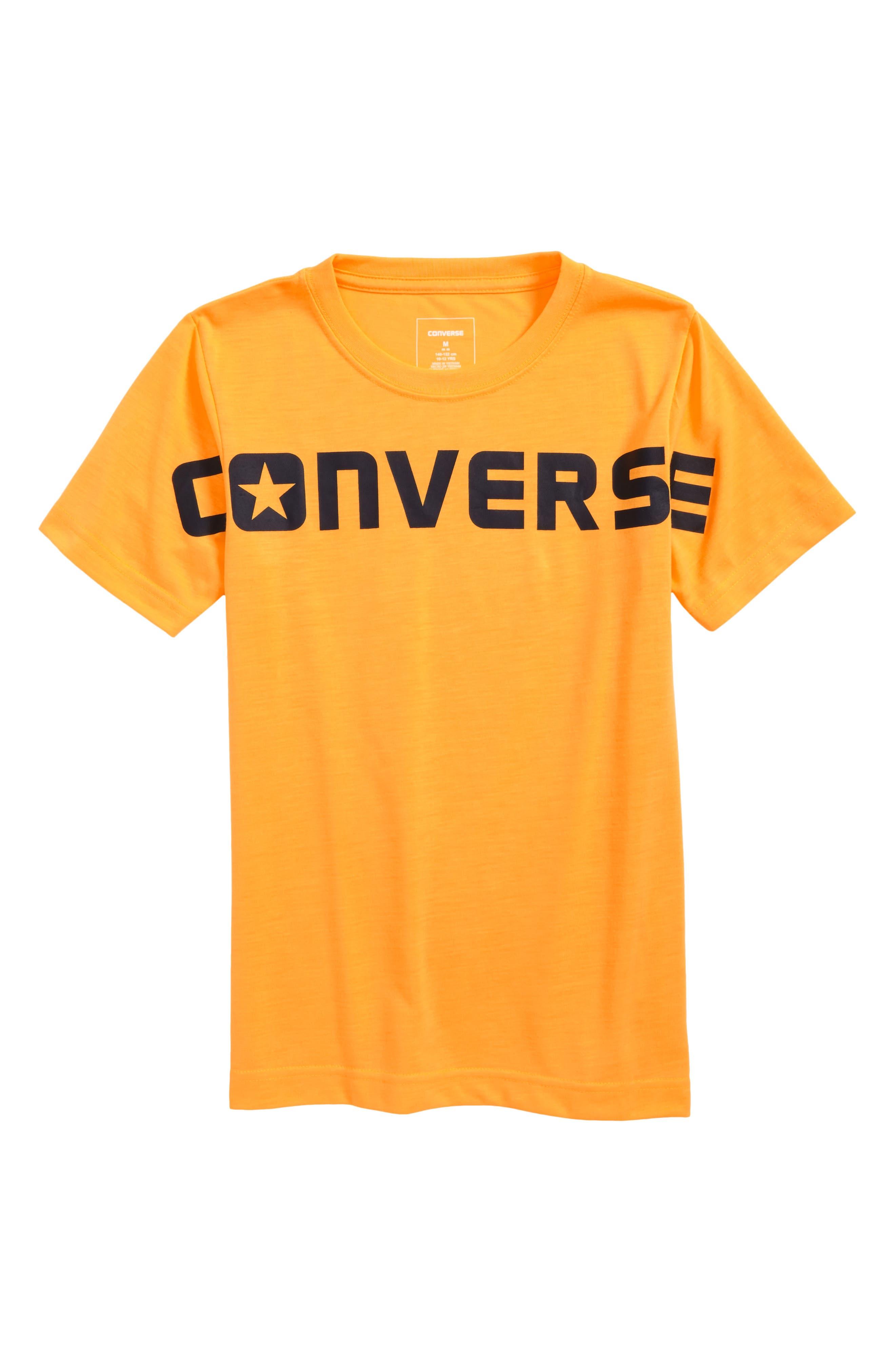 Wordmark Graphic T-Shirt,                         Main,                         color, Laser Orange