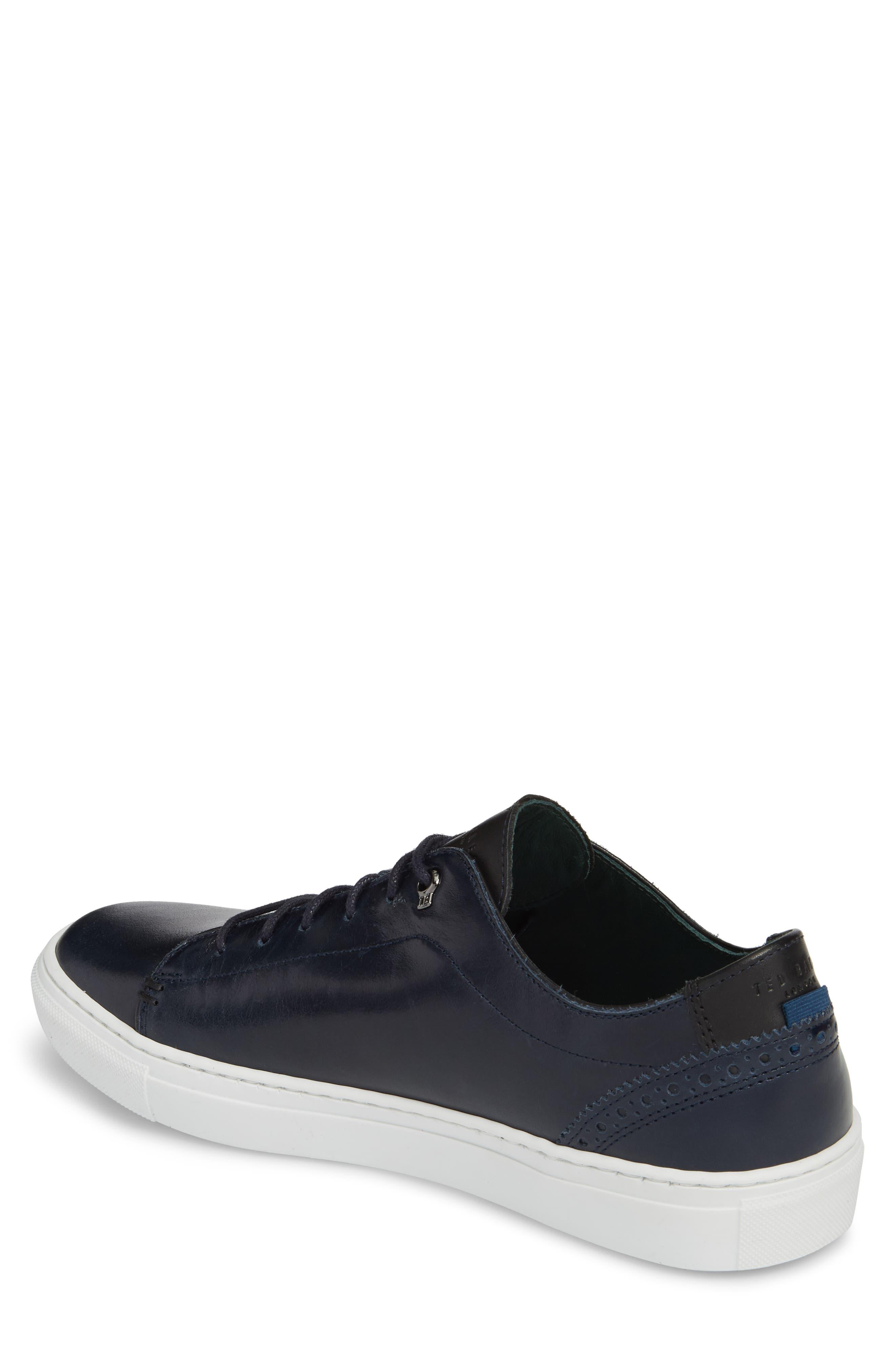 Duuke 2 Sneaker,                             Alternate thumbnail 2, color,                             Midnight Blue Leather
