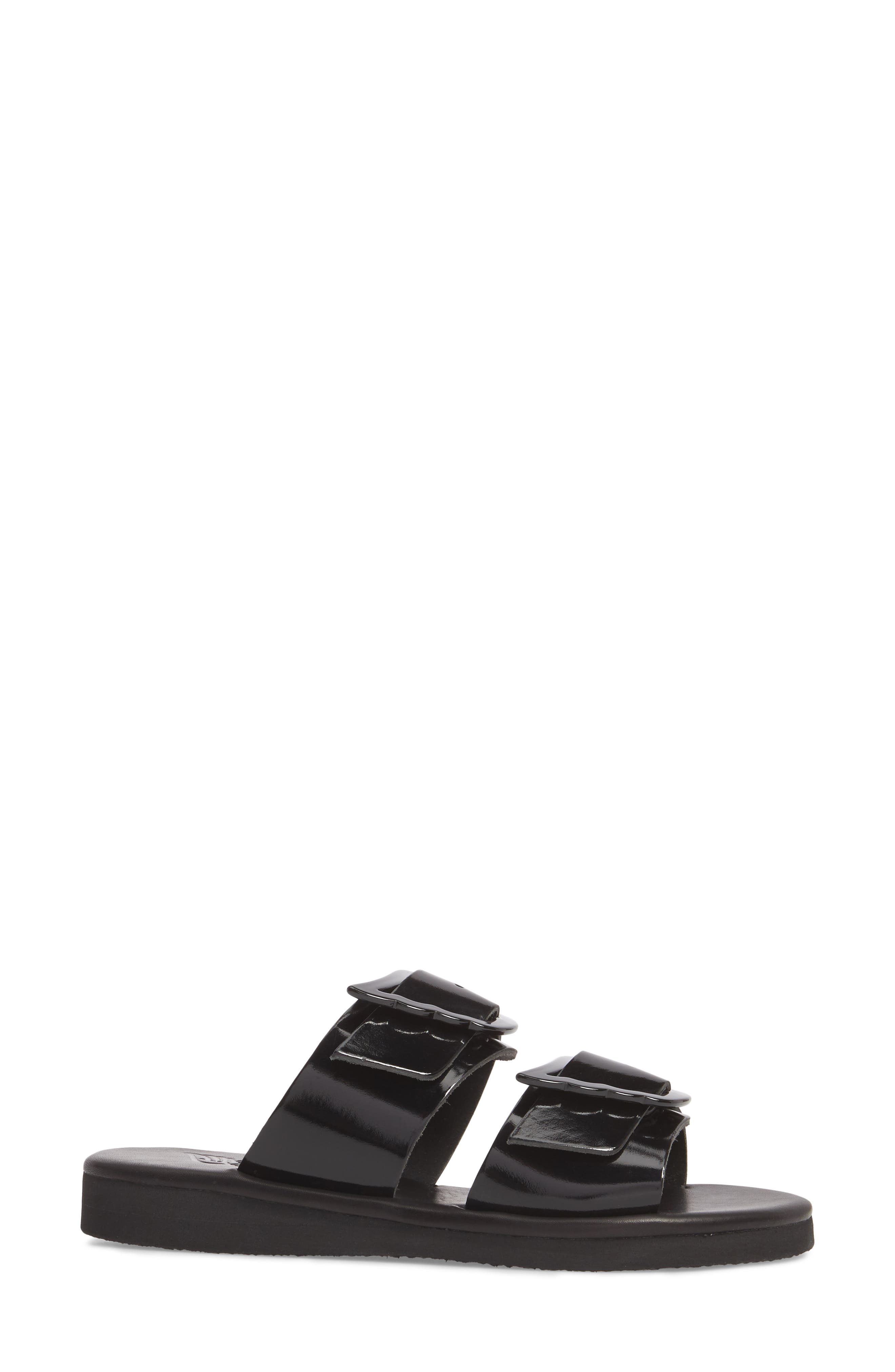 Iaso Slide Sandal,                             Alternate thumbnail 3, color,                             Black
