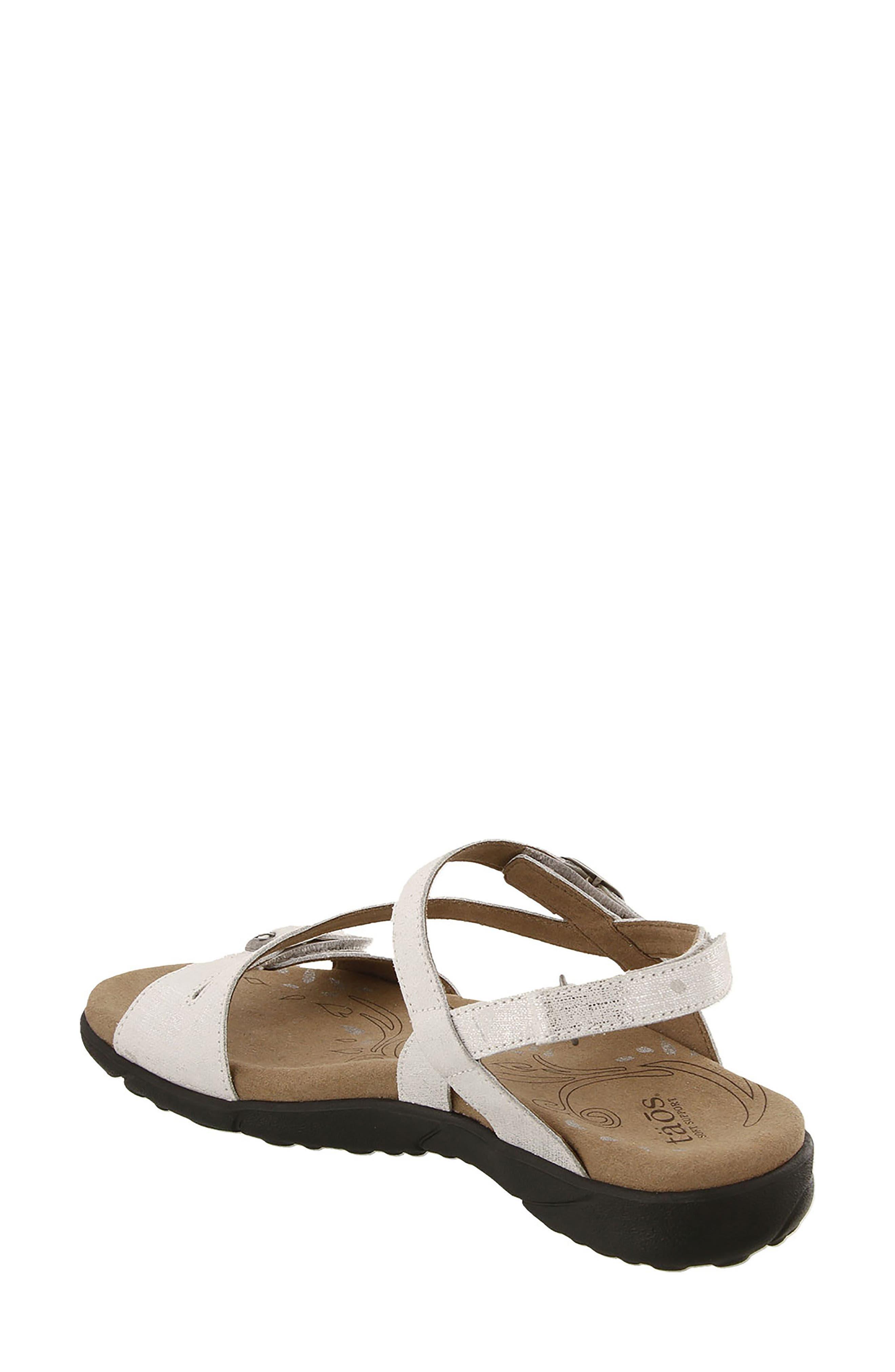 Beauty Sandal,                             Alternate thumbnail 2, color,                             White Metallic Leather