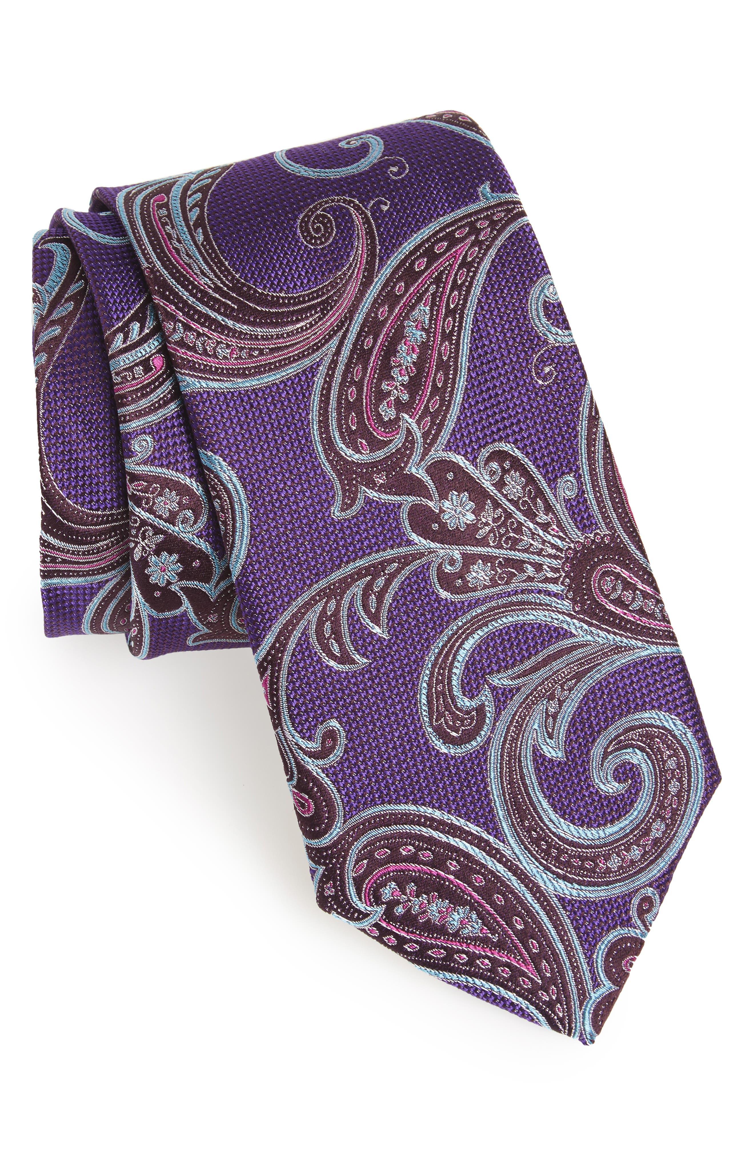 Main Image - Nordstrom Men's Shop Bennett Paisley Silk Tie (X-Long)
